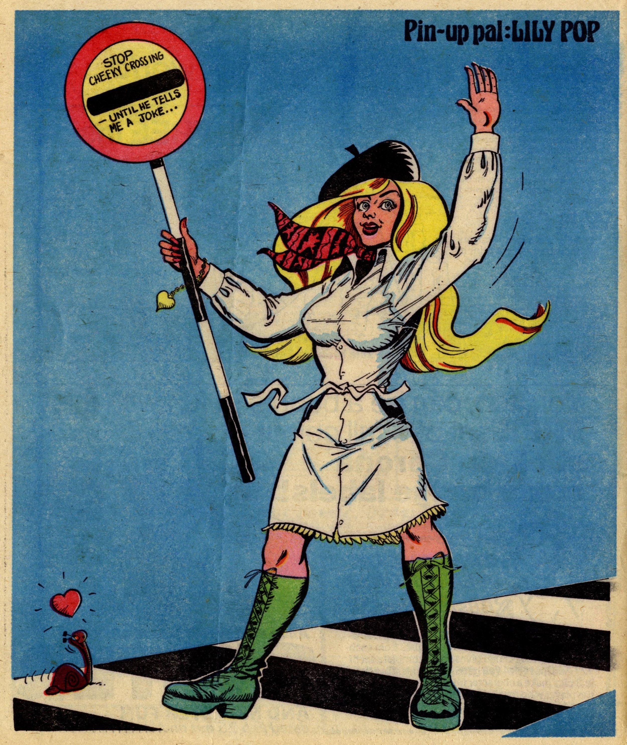 Pin-up Pal: Lily Pop (artist Frank McDiarmid), 18 February 1978