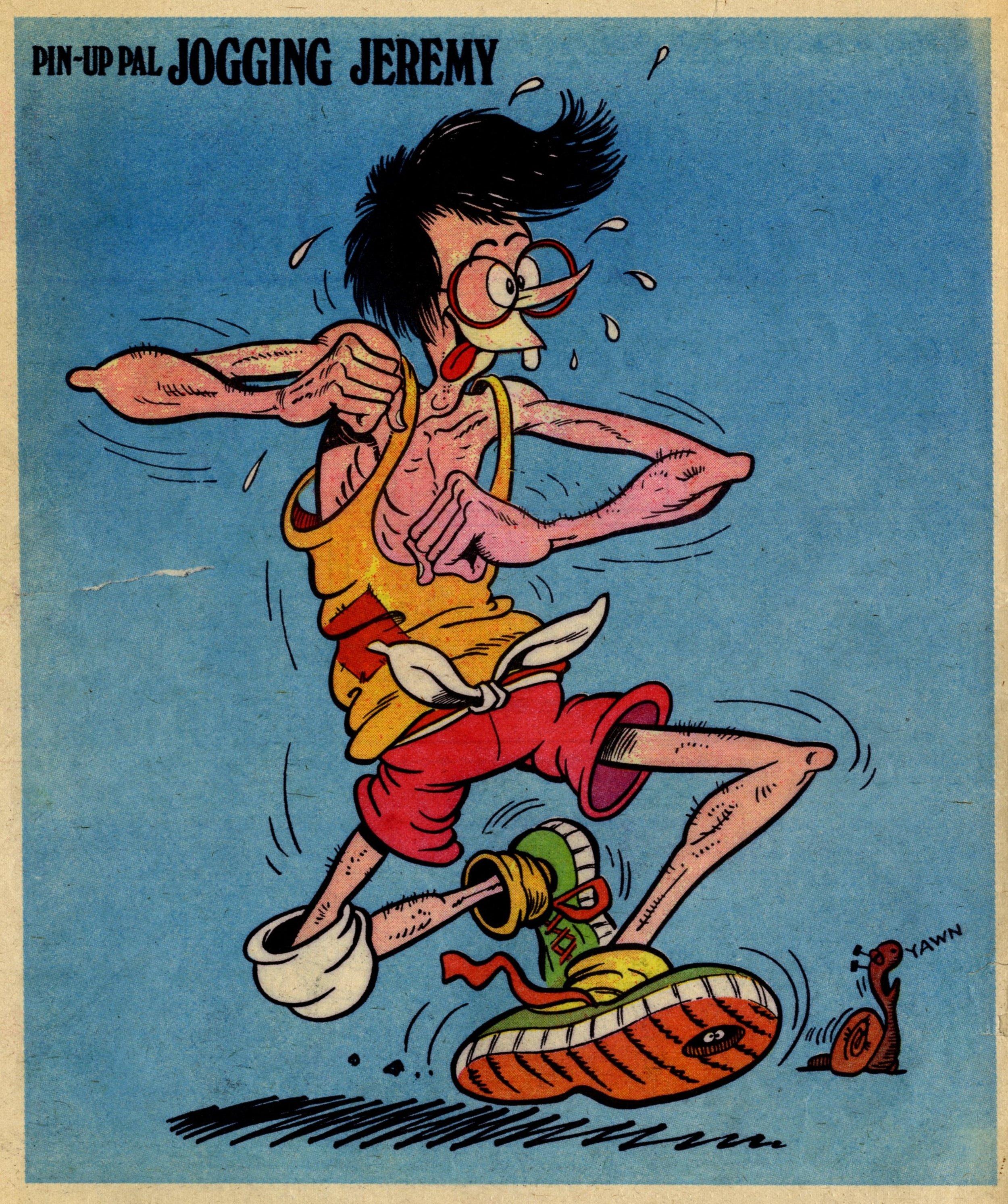 Pin-up Pal: Jogging Jeremy (artist Frank McDiarmid), 25 February 1978