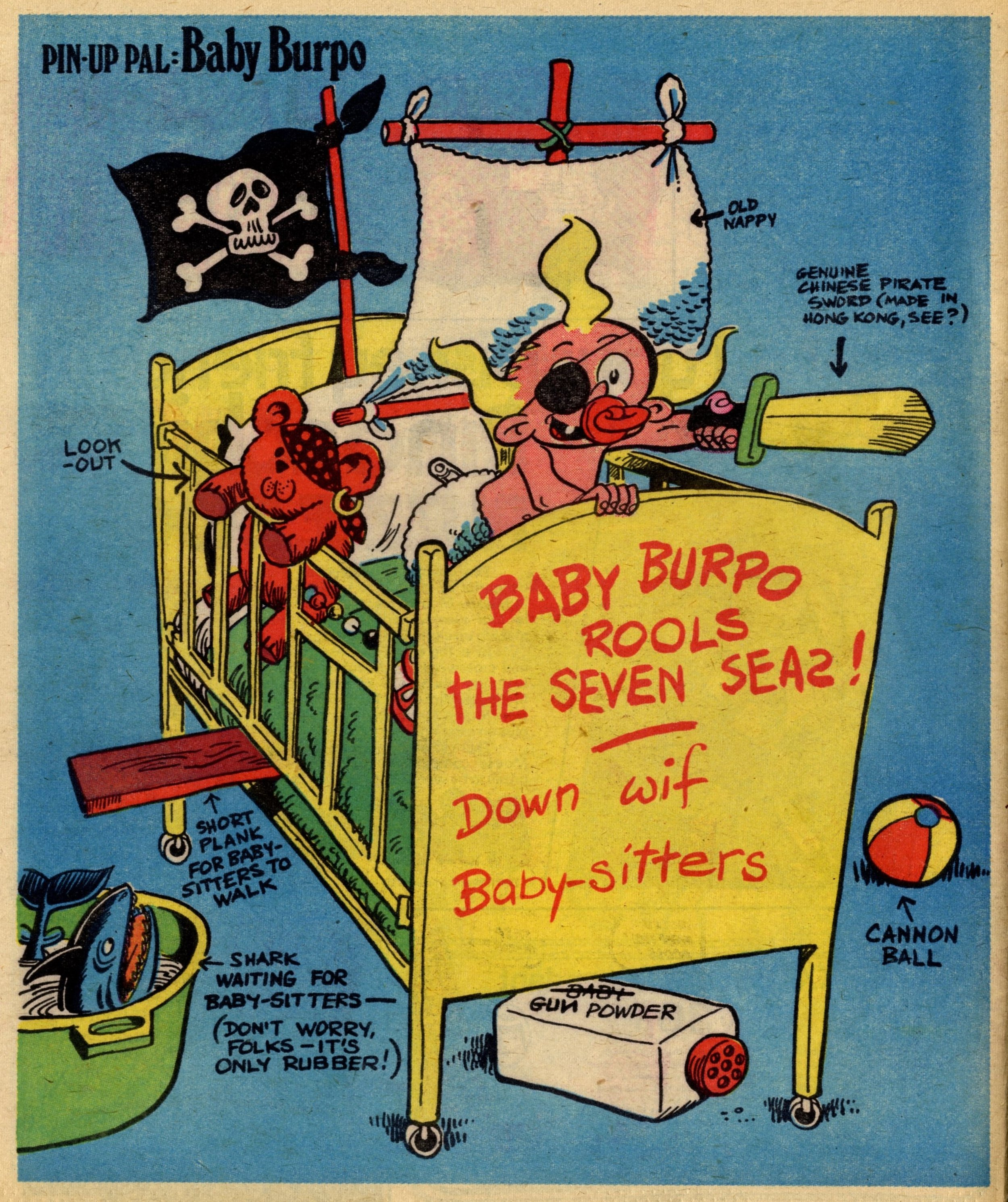 Pin-up Pal: Baby Burpo (artist Frank McDiarmid), 18 March 1978