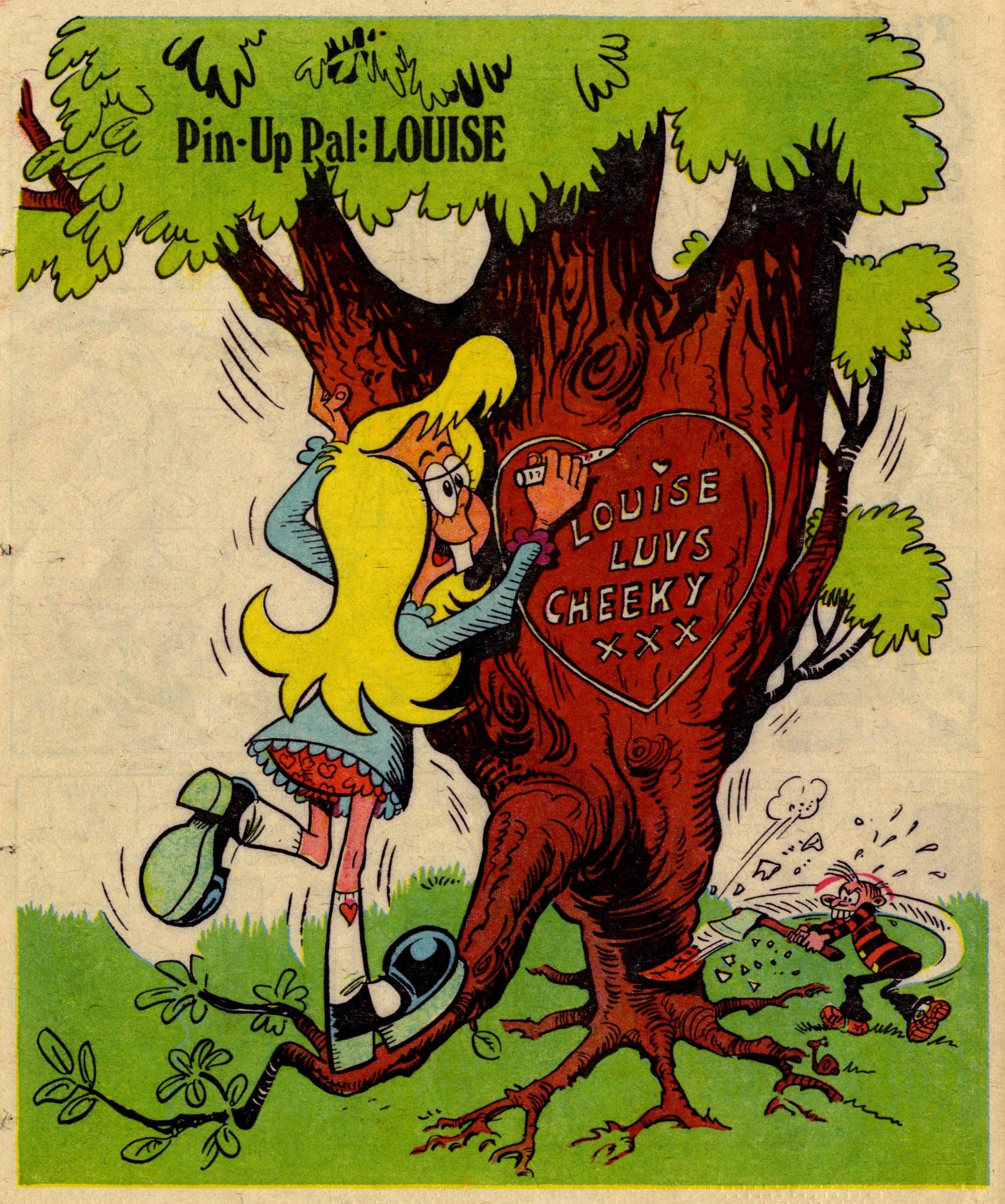 Pin-up Pal: Louise (artist Frank McDiarmid), 15 April 1978