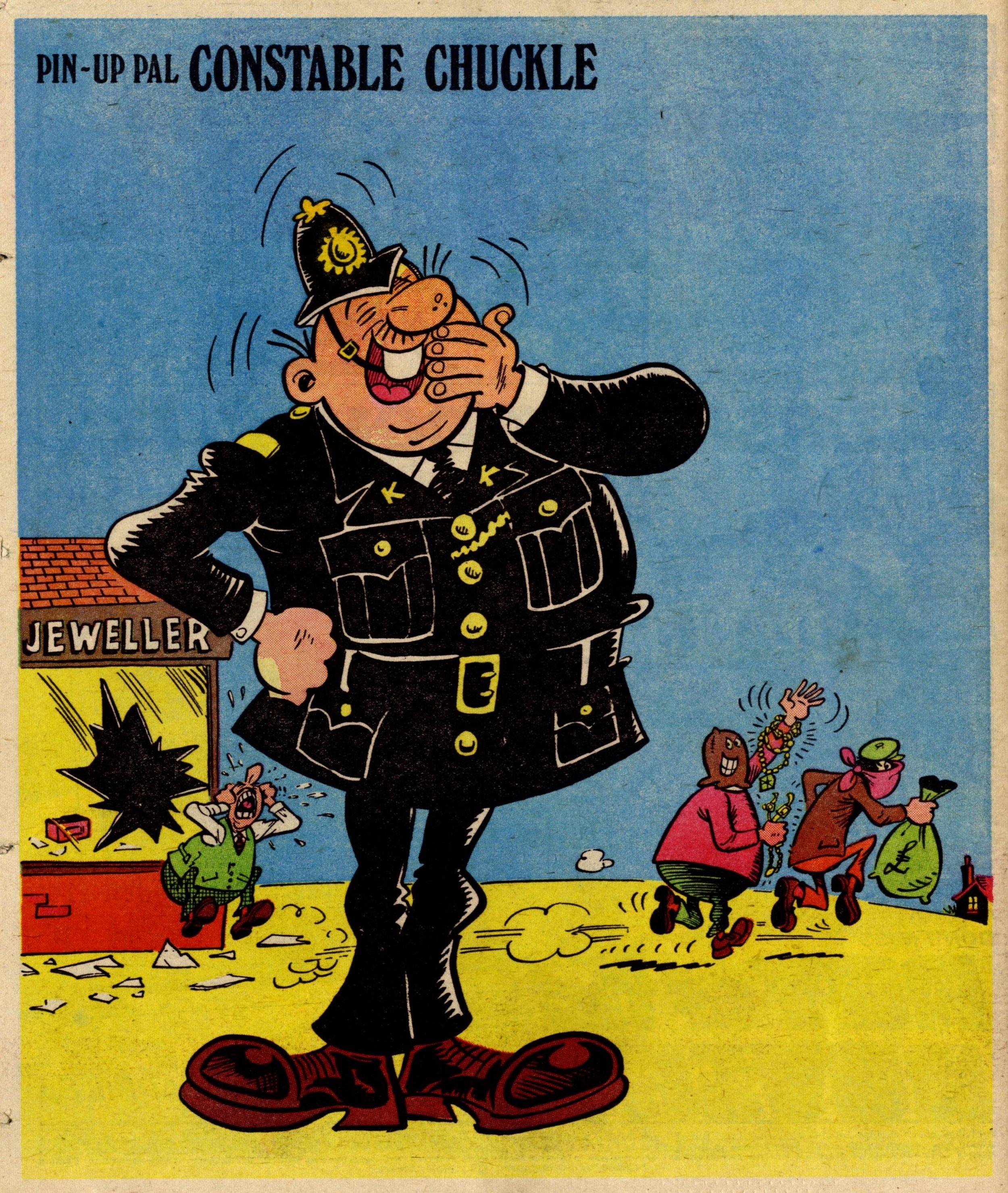 Pin-up Pal: Constable Chuckle (artist Frank McDiarmid), 22 April 1978