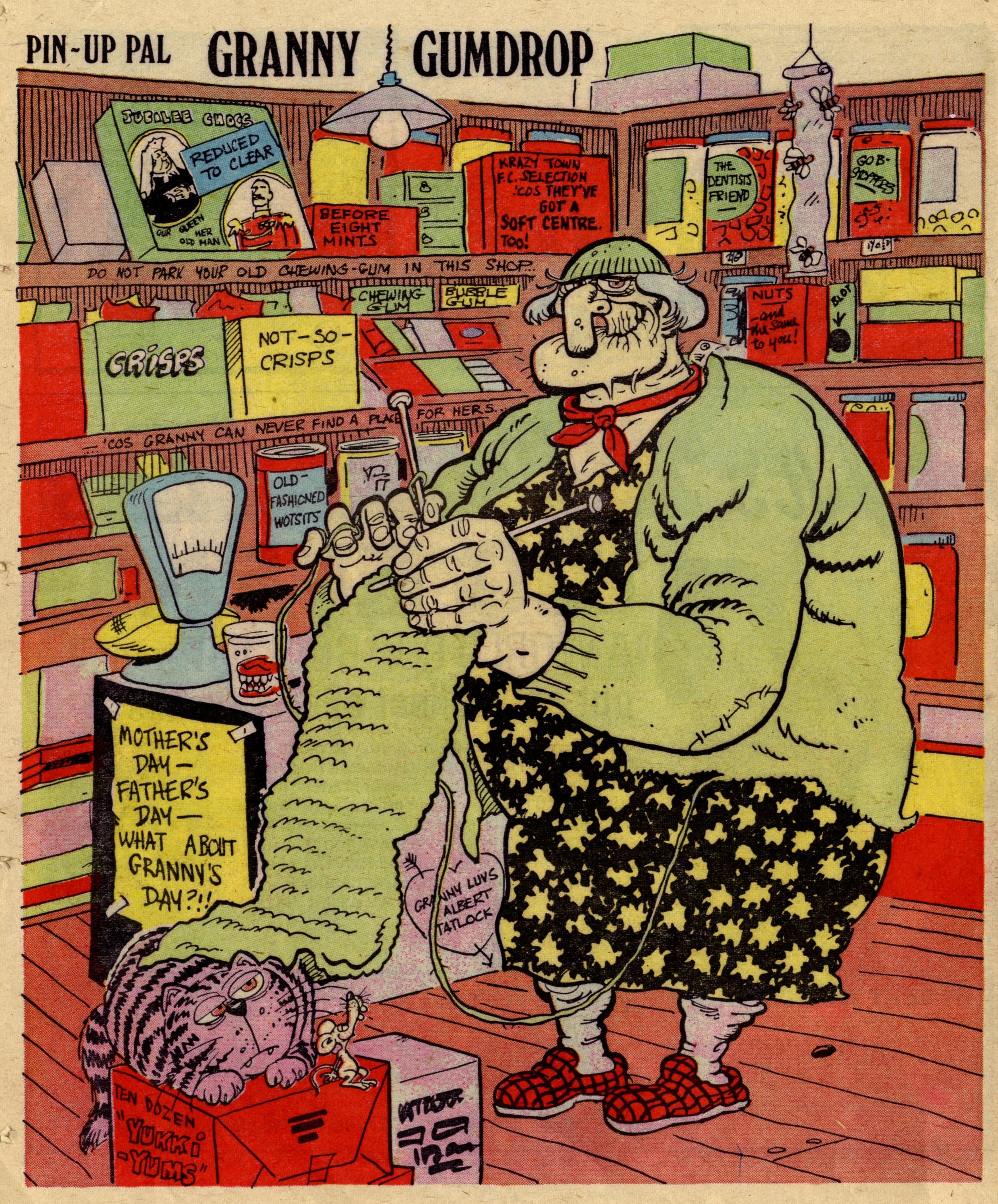 Pin-up Pal: Granny Gumdrop (artist Frank McDiarmid), 20 May 1978