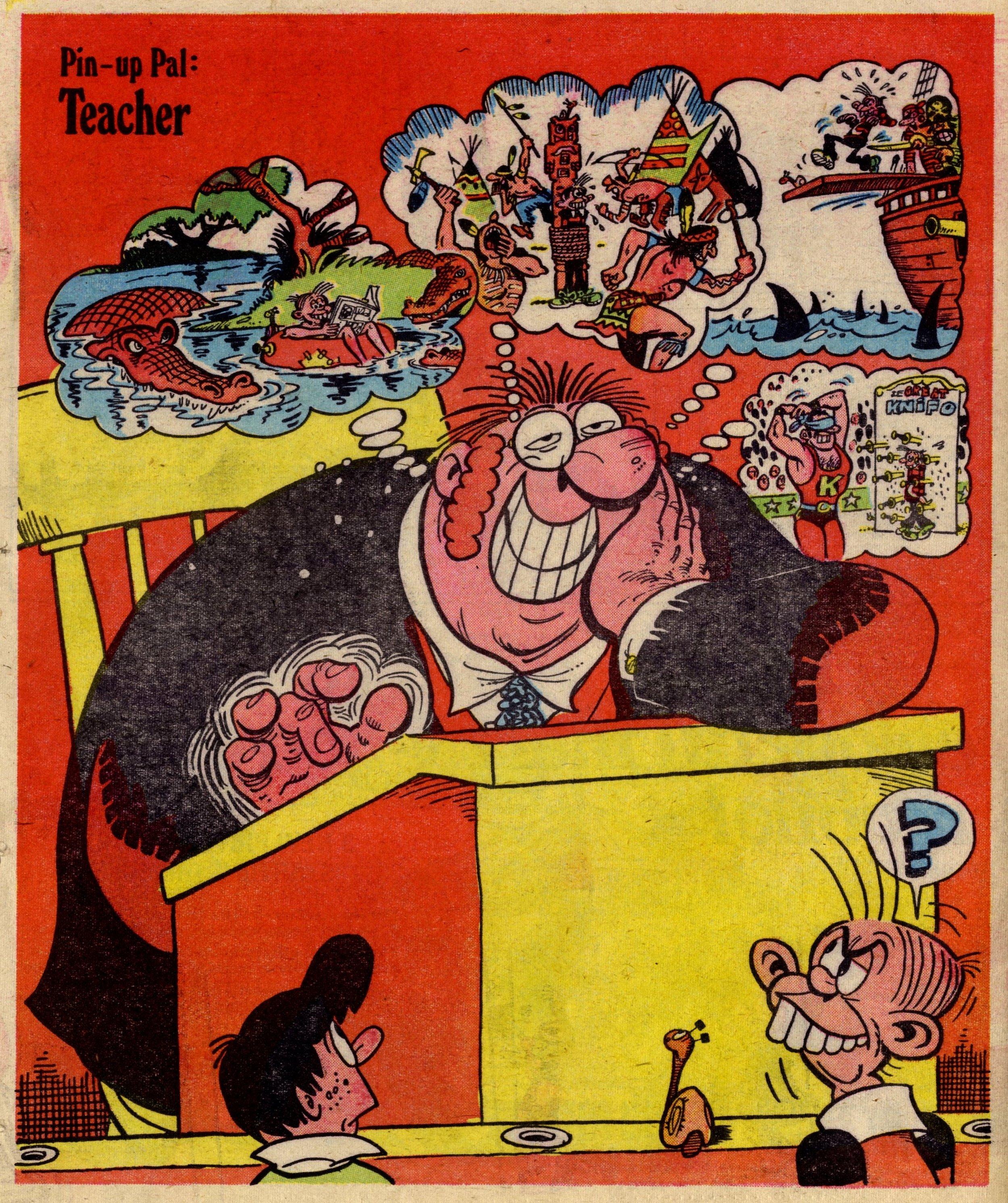 Pin-up Pal: Teacher (artist Frank McDiarmid), 12 August 1978