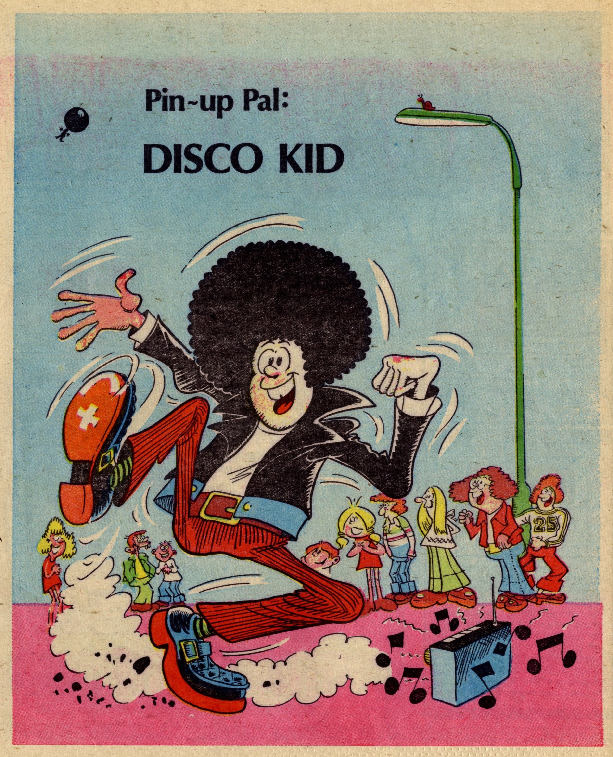 Pin-up Pal: Disco Kid (artist Frank McDiarmid), 16 September 1978