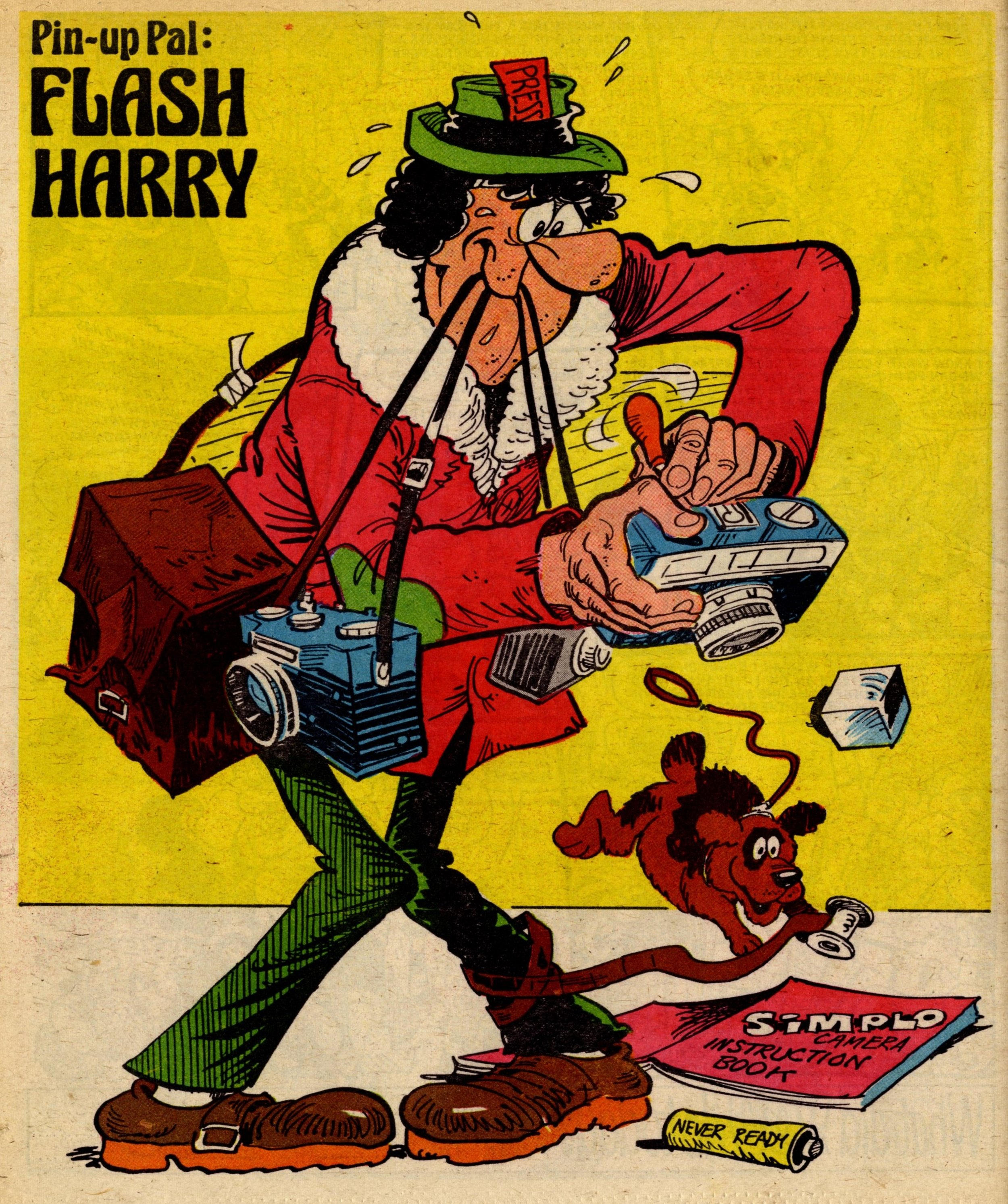 Pin-up Pal: Flash Harry (artist Frank McDiarmid), 9 December 1978