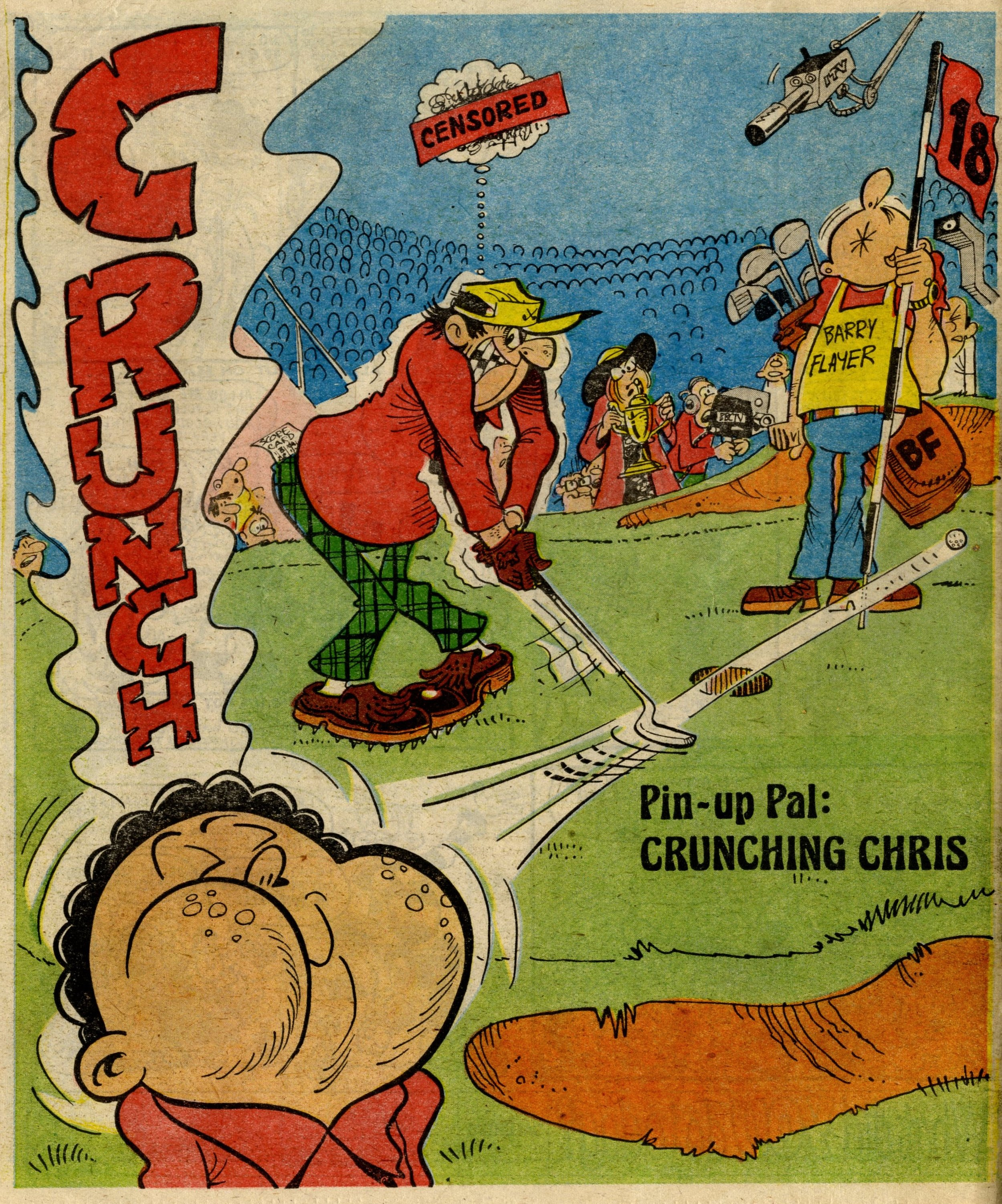 Pin-up Pal: Crunching Chris (artist Frank McDiarmid), 13 January 1979