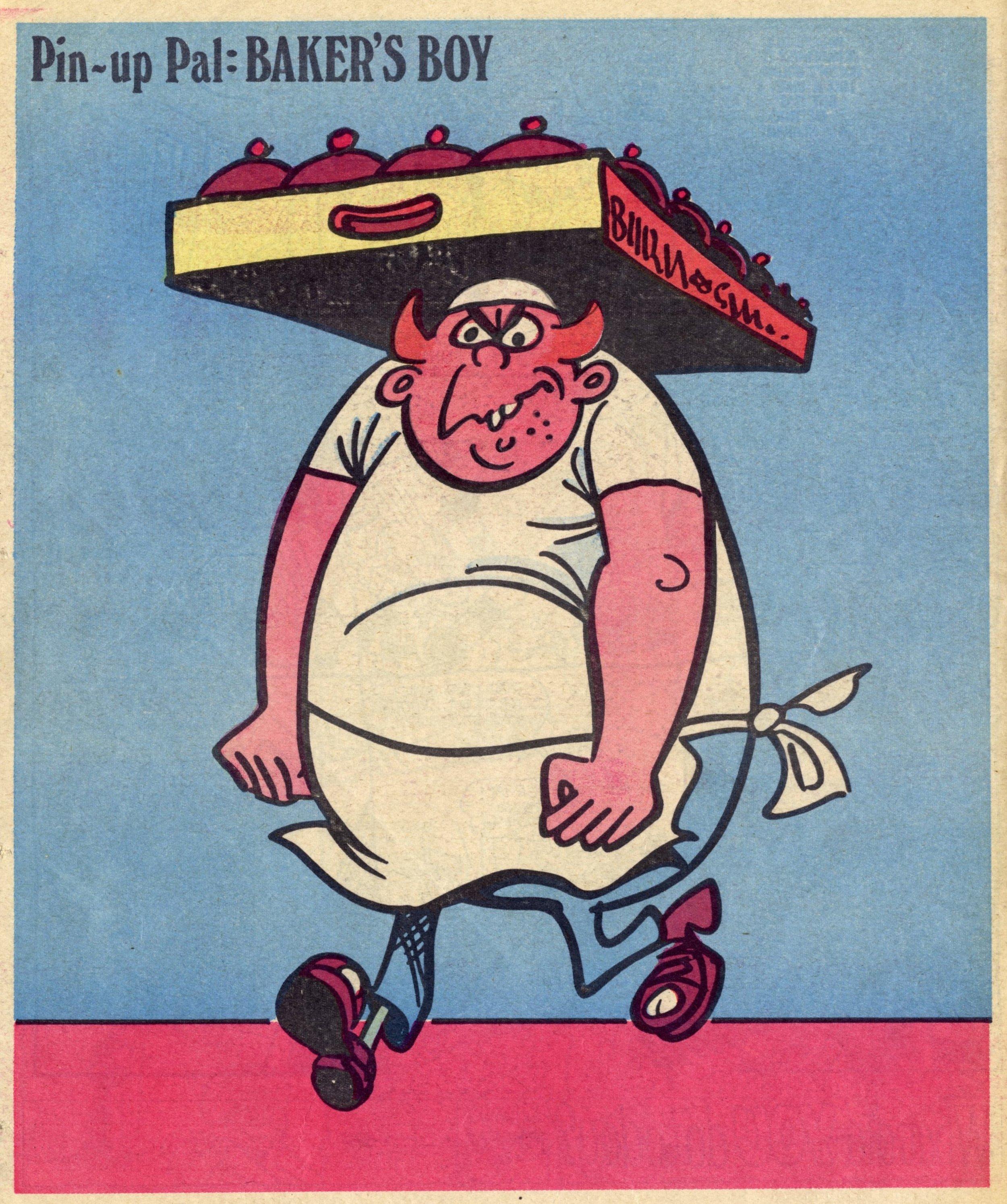 Pin-up Pal: Baker's Boy (artist Frank McDiarmid), 10 February 1979