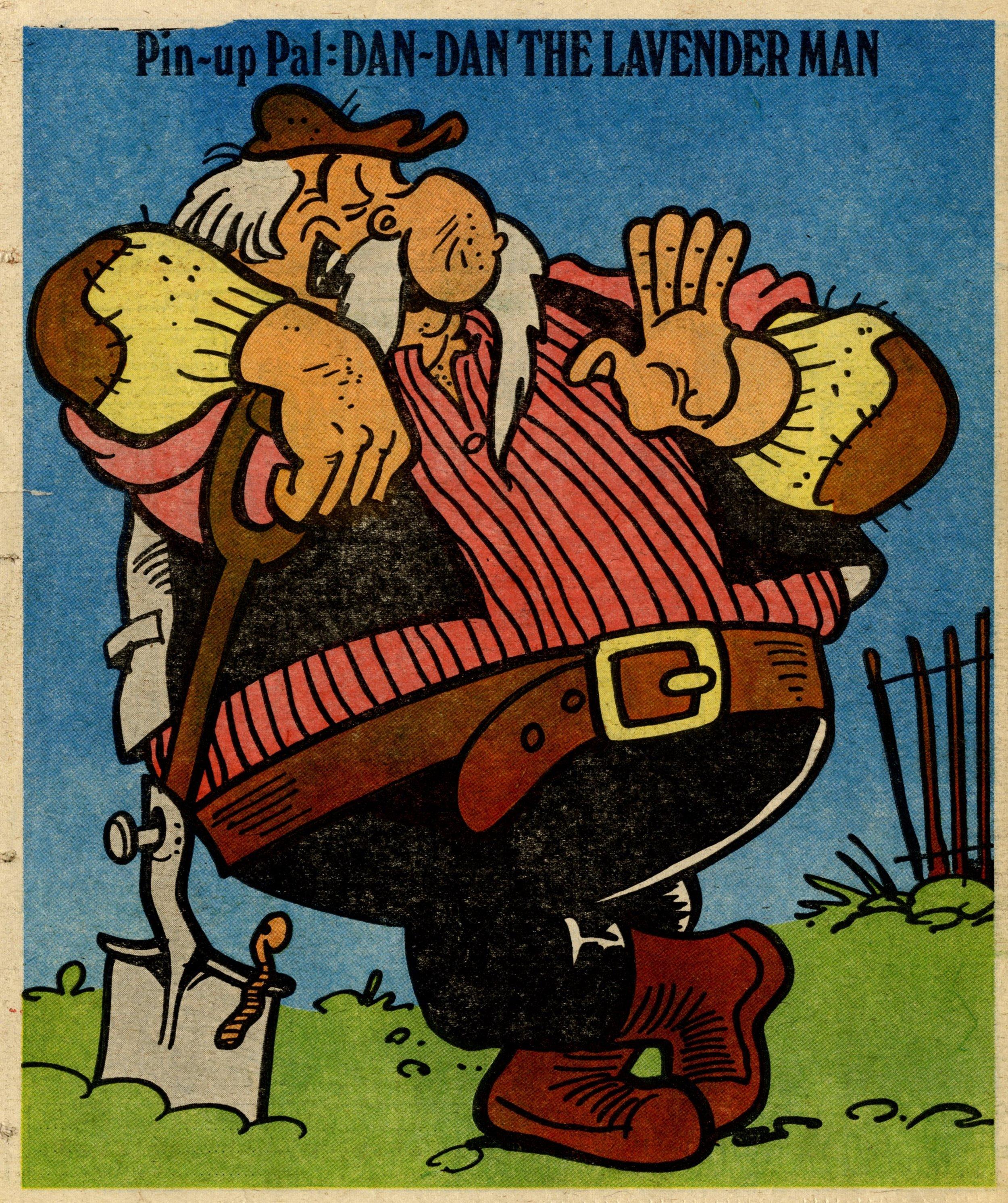 Pin-up Pal: Dan-Dan the Lavender Man (artist Frank McDiarmid), 3 March 1979