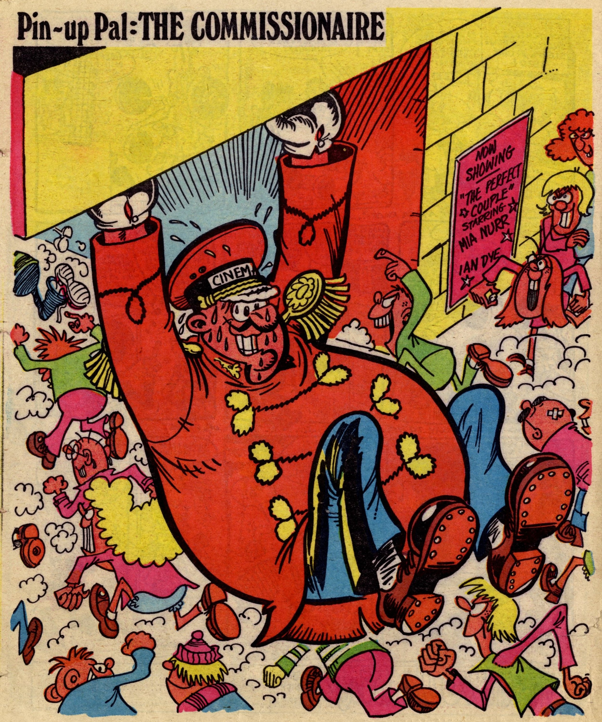 Pin-up Pal: The Commissionaire (artist Frank McDiarmid), 17 March 1979