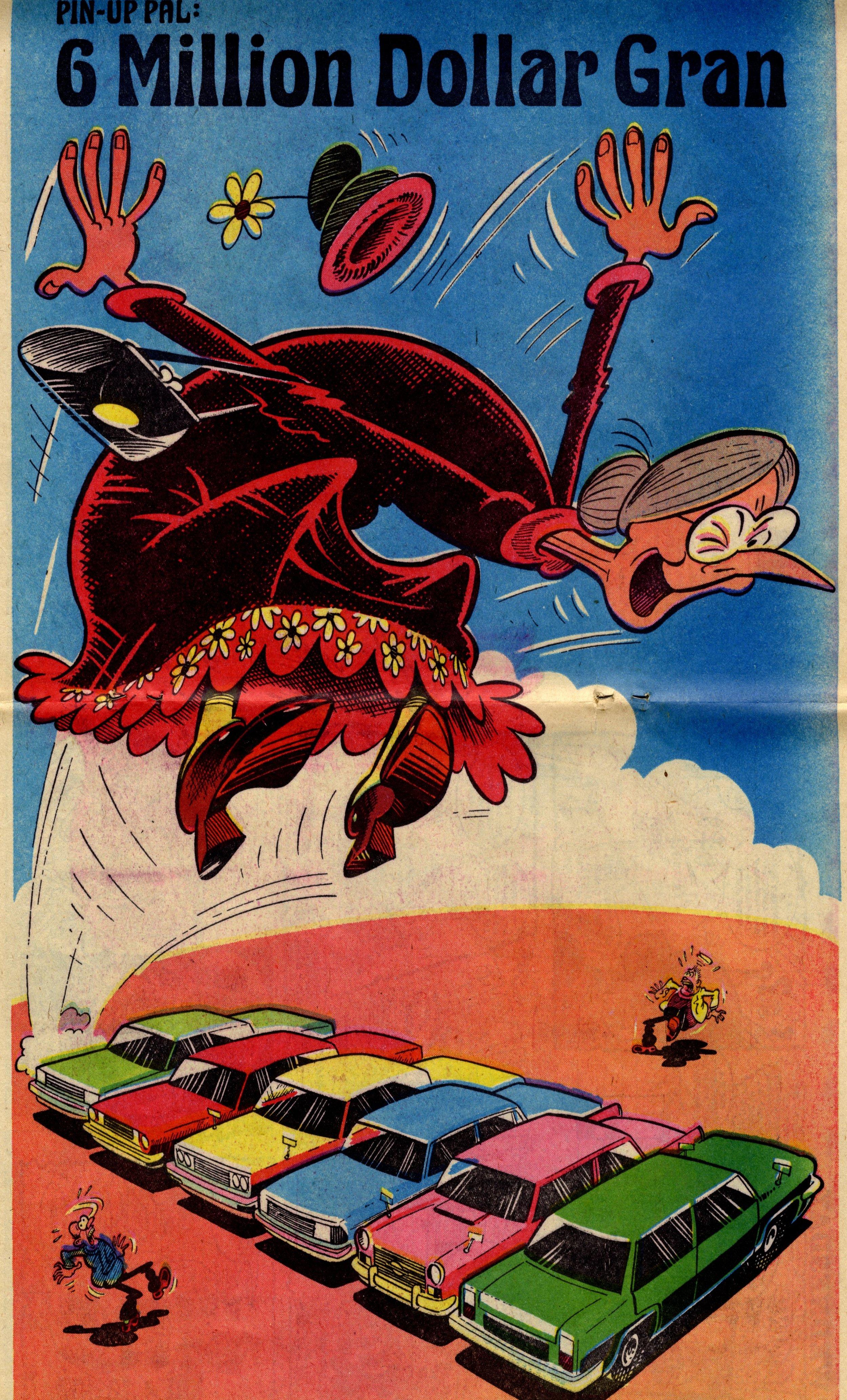 Pin-up Pal: 6 Million Dollar Gran (artist Ian Knox), 29 October 1977