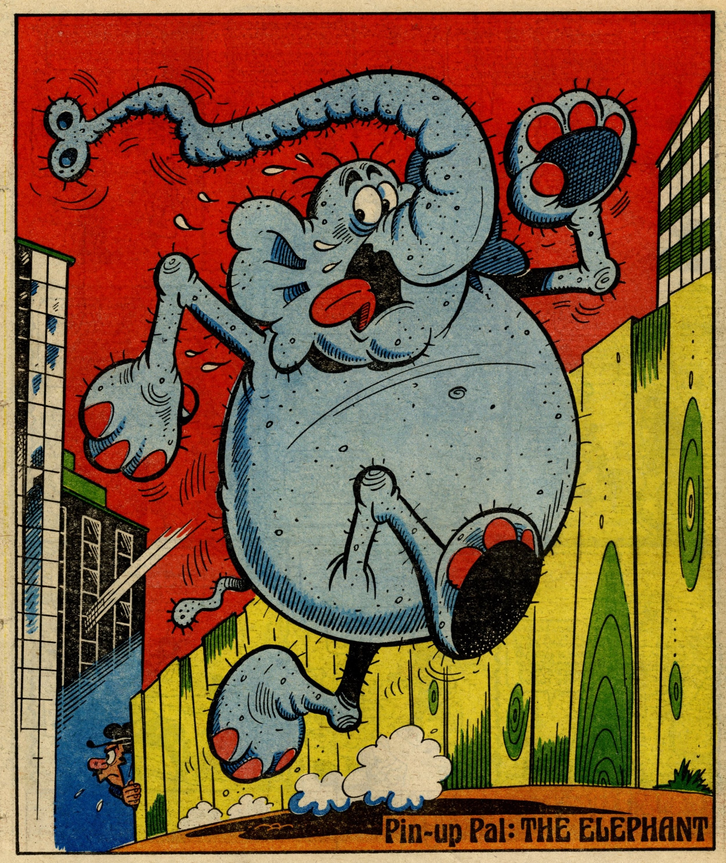 Pin-up Pal: The Elephant, from Elephant on the Run (artist Robert Nixon), 6 January 1979