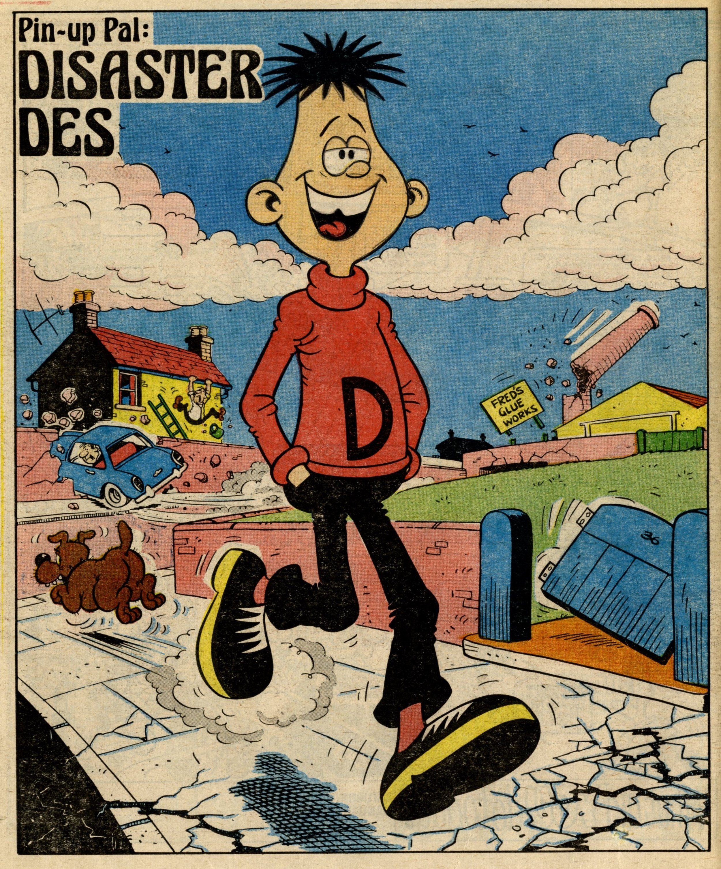 Pin-up Pal: Disaster Des (artist Mike Lacey), 20 January 1979