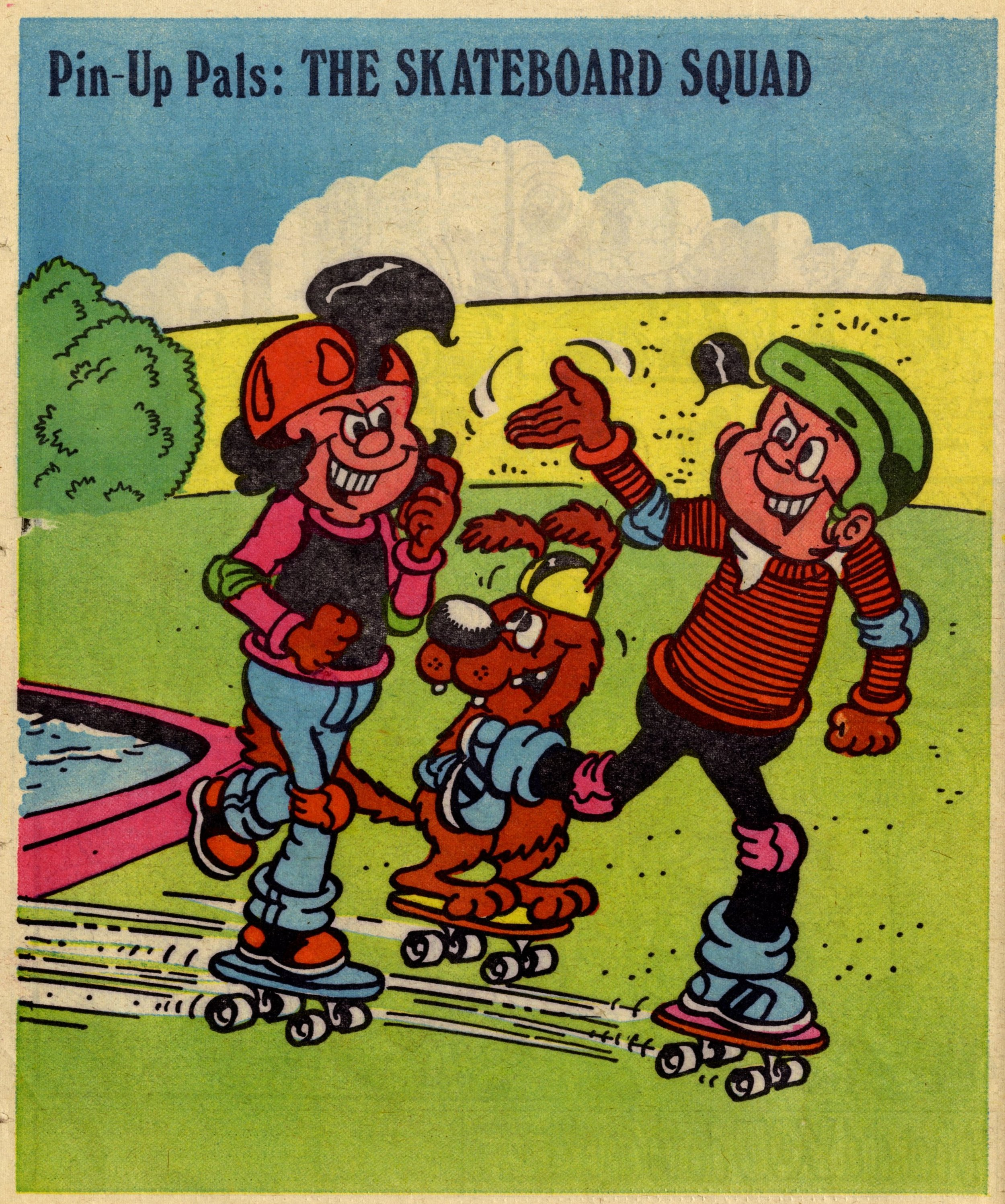 Pin-up Pal: The Skateboard Squad (artist Frank McDiarmid), 31 March 1979