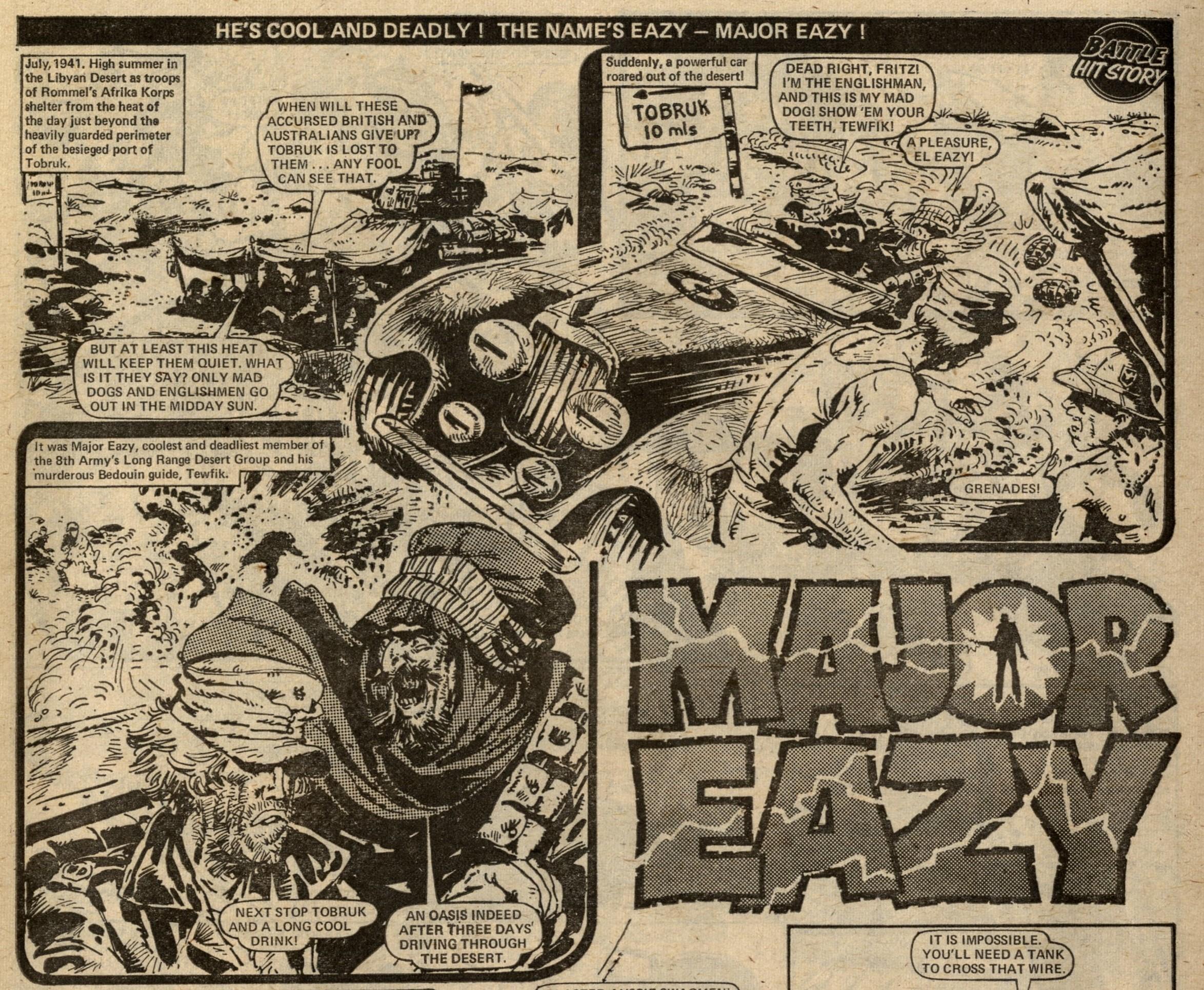 Major Eazy: Alan Hebden (writer), Carlos Ezquerra (artist)