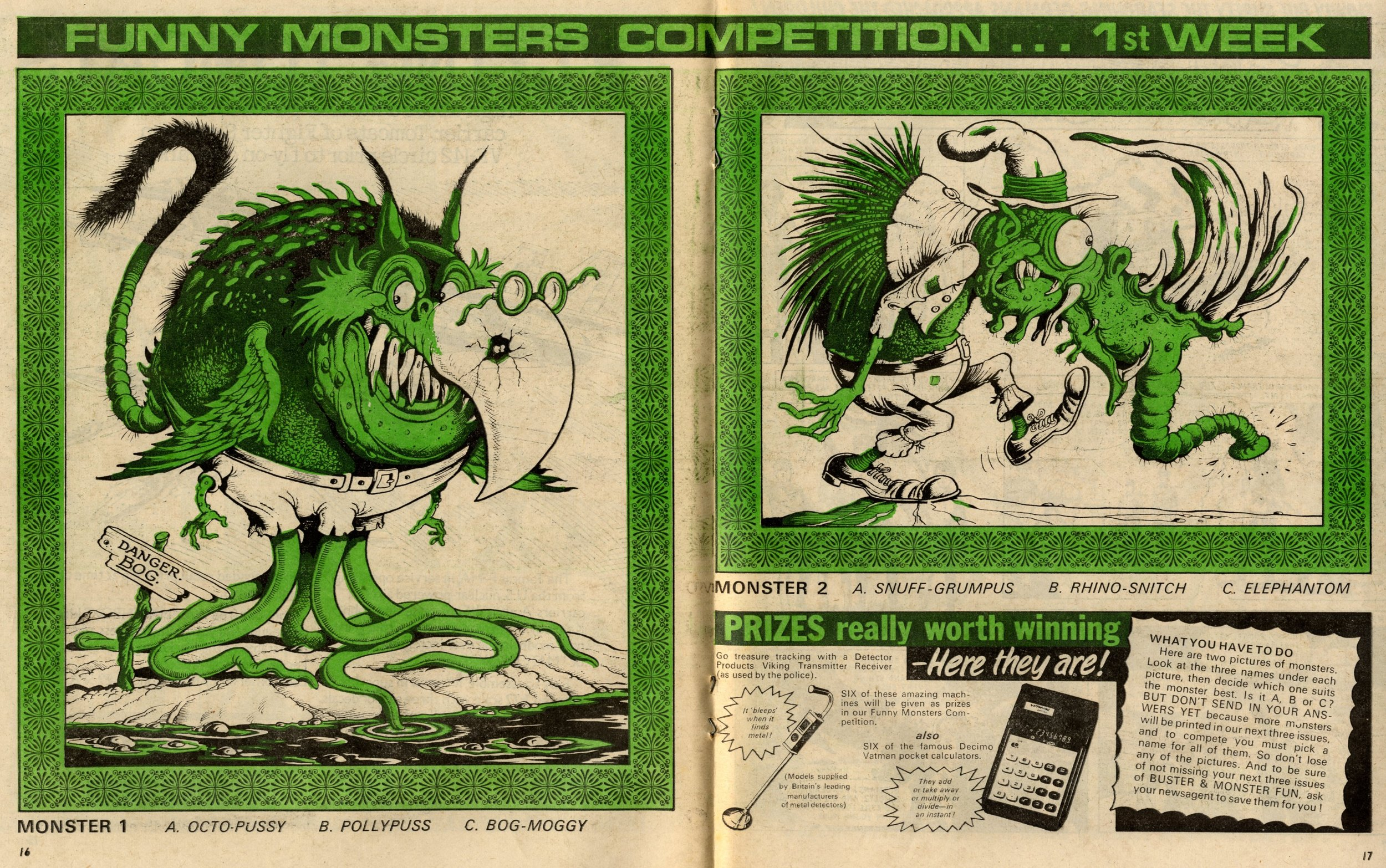 Funny Monster Competition: Ken Reid (artist)