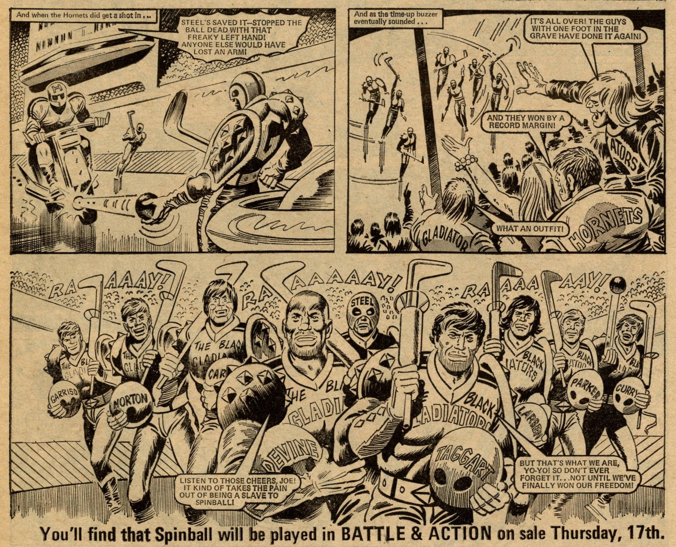 The Spinball Slaves: Tom Tully (writer), Ron Turner (artist)