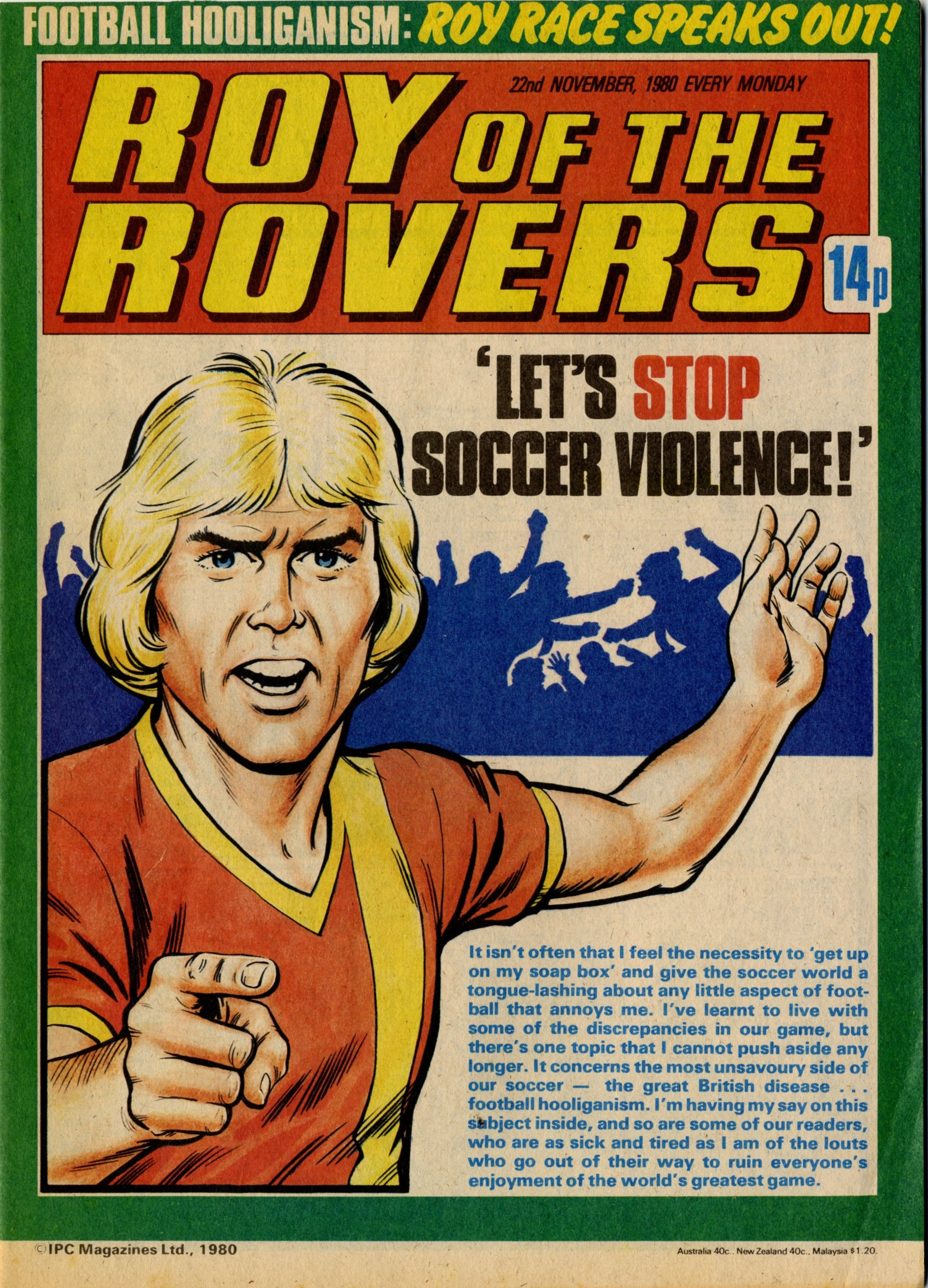 Roy of the Rovers Old comic cover Poster reproduction