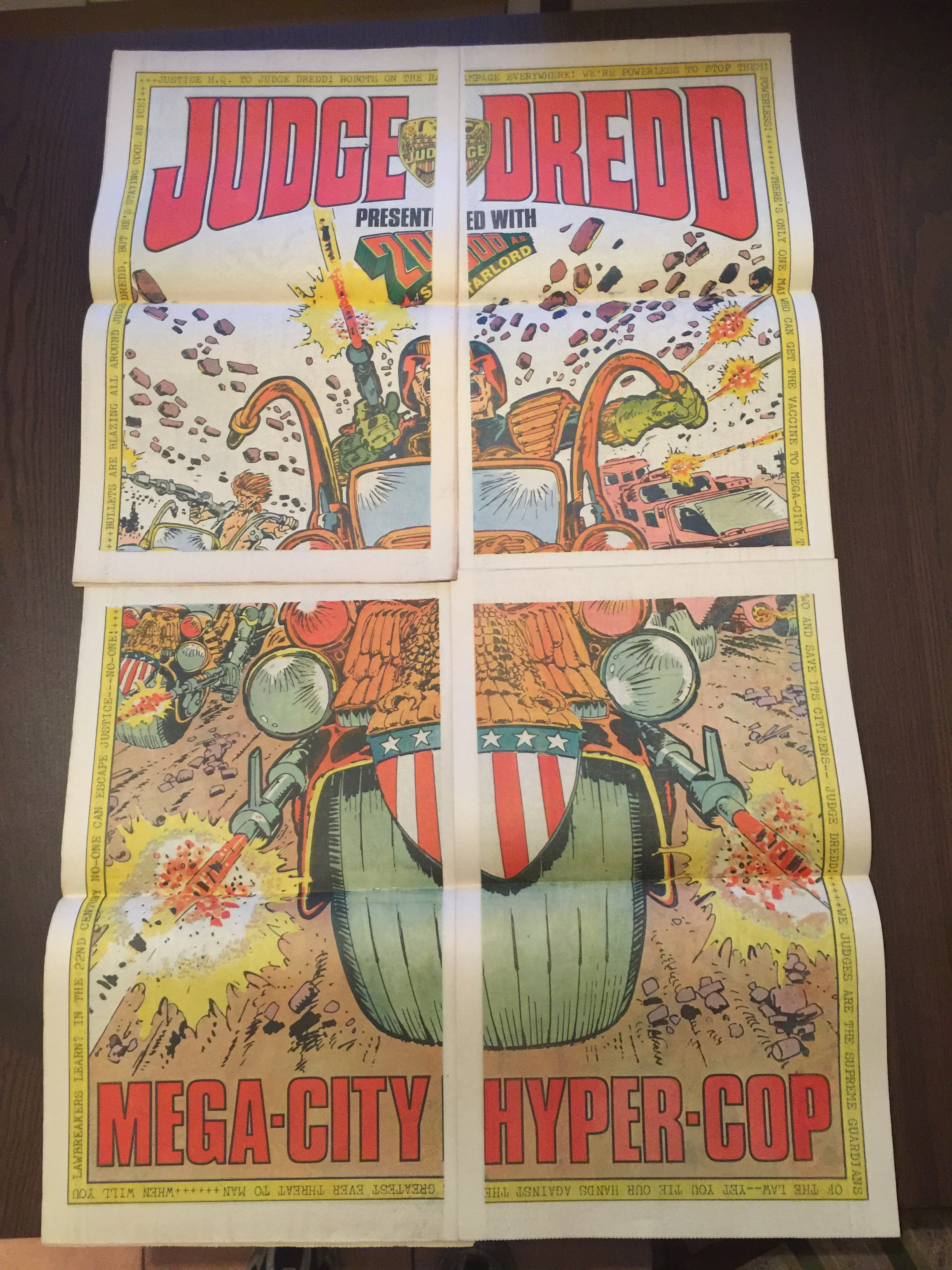Judge Dredd poster (from Progs 100-103): Mike McMahon (artist)
