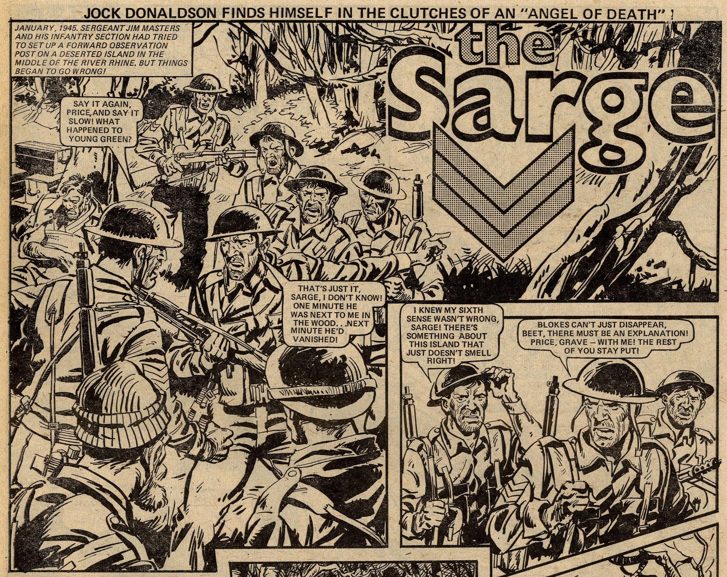 The Sarge: Scott Goodall (writer), Phil Gascoine? (artist)