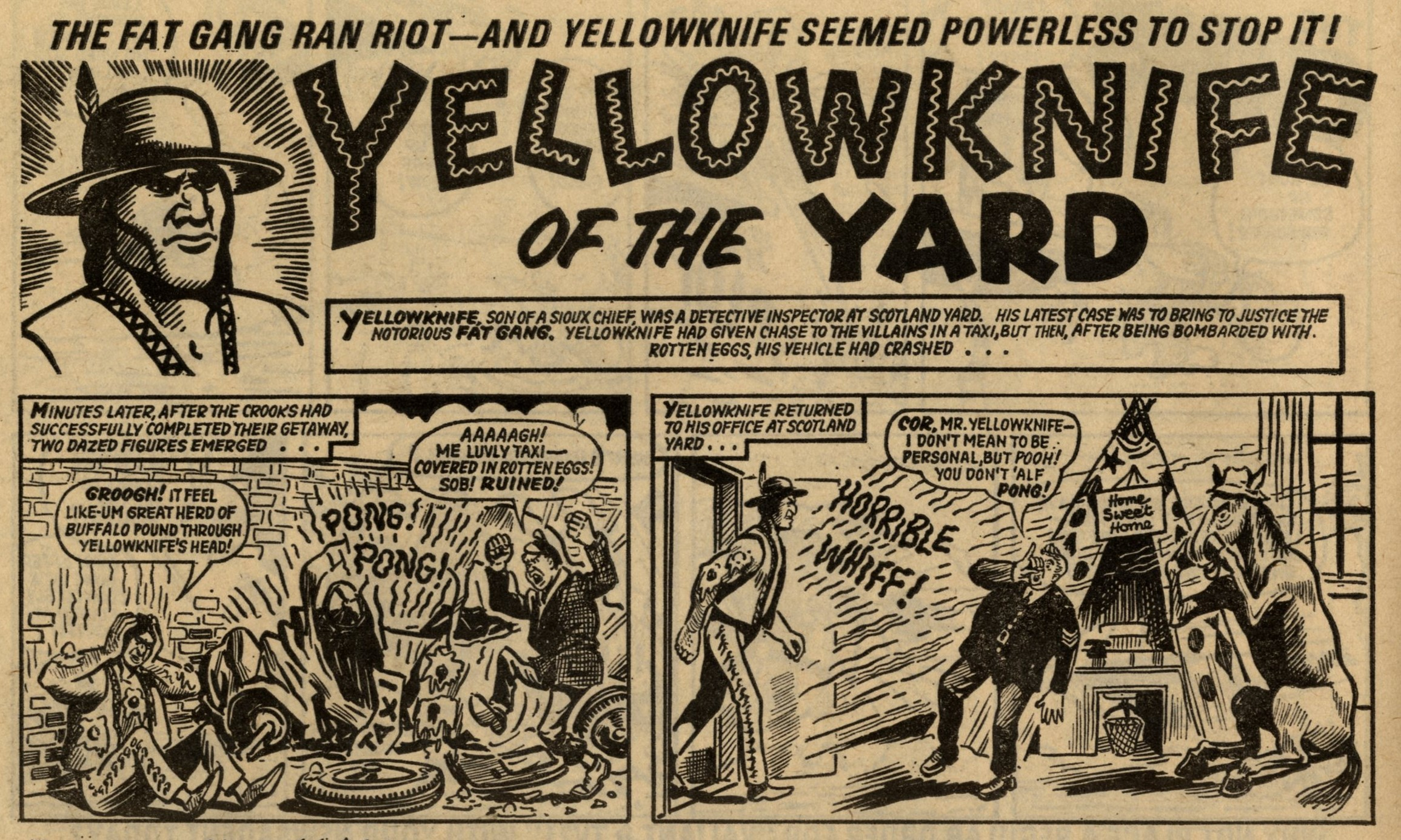 Yellowknife of the Yard: Pat Mills and John Wagner (writers), Doug Maxted (artist)