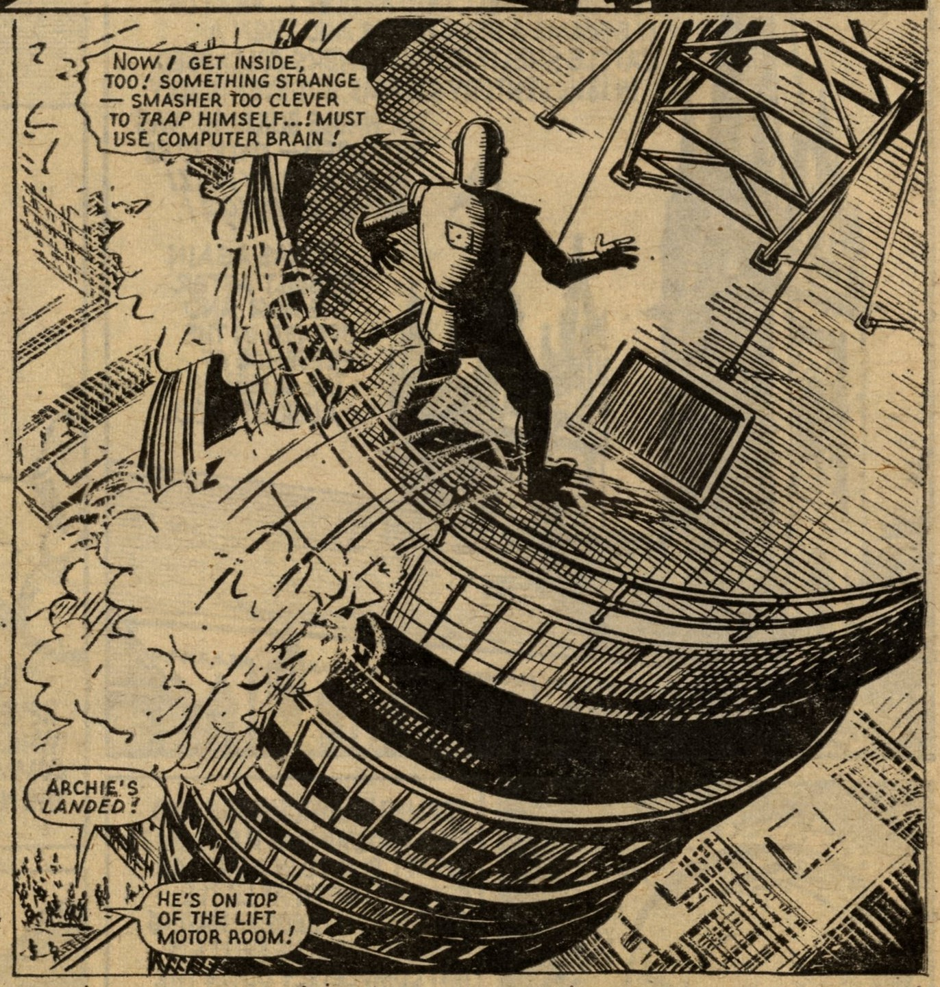 Robot Archie Fights The Smasher: E. George Cowan (writer), Ted Kearon (artist)