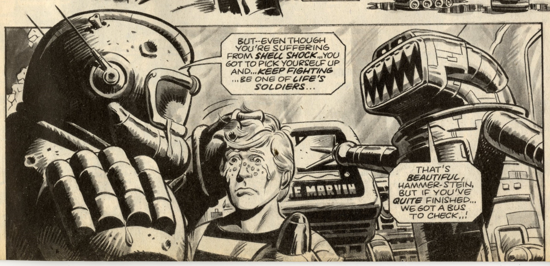 Ro-busters: Pat Mills (writer), Dave Gibbons (artist)