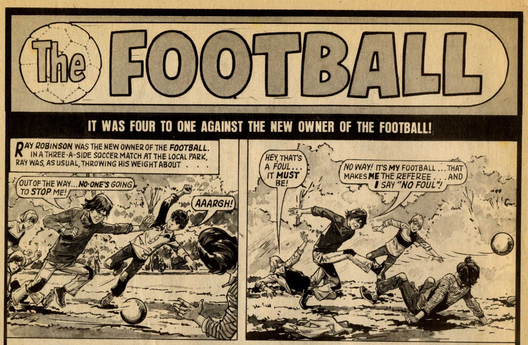 The Football: Barrie Tomlinson (writer), artist unknown