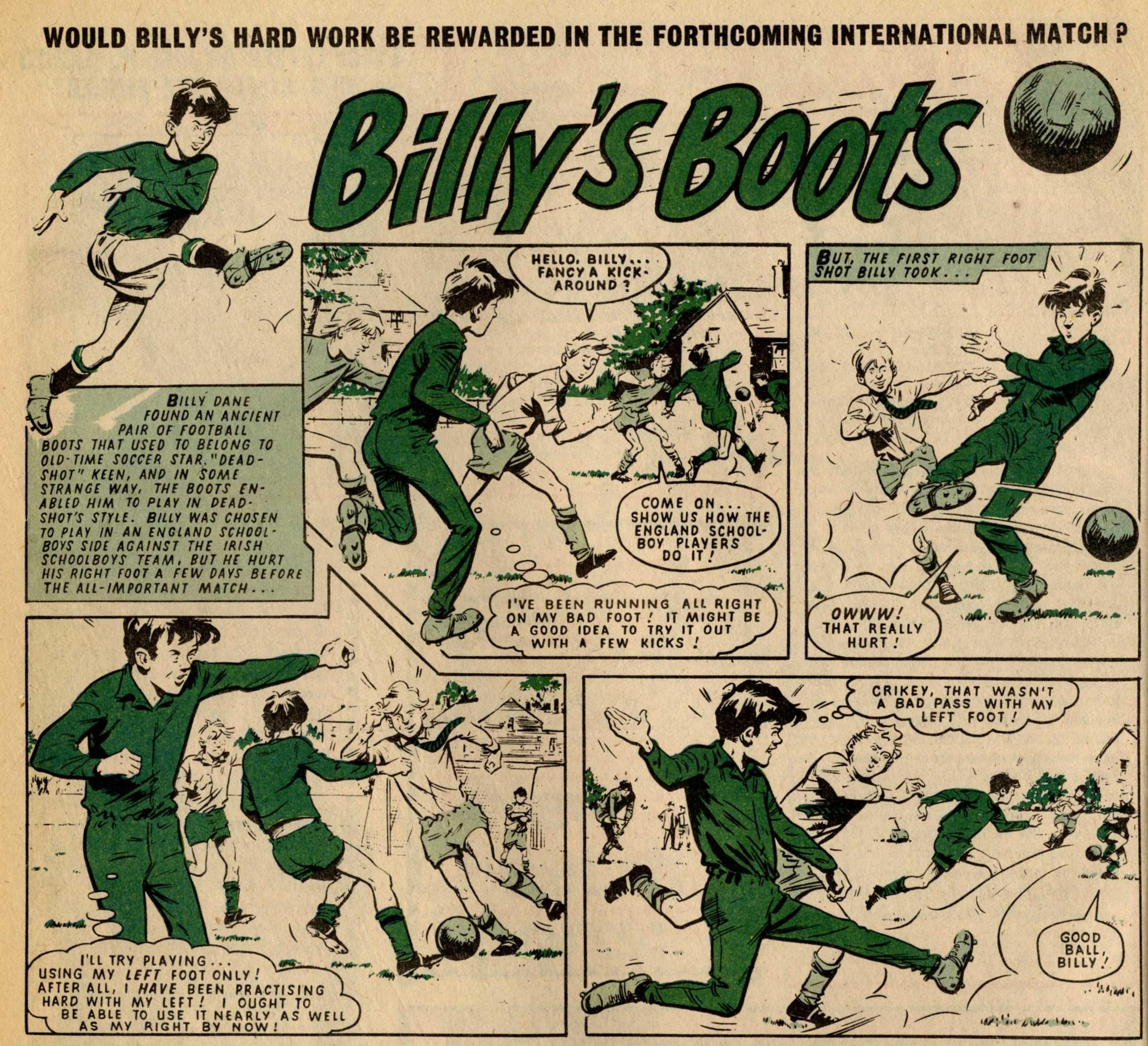 Billy's Boots: Fred Baker (writer), Tom Kerr? (artist)