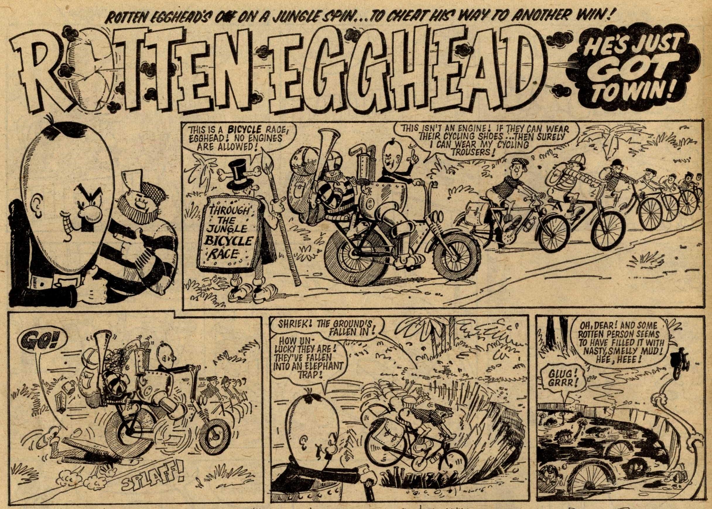 Rotten Egghead, drawn by Alan Rogers