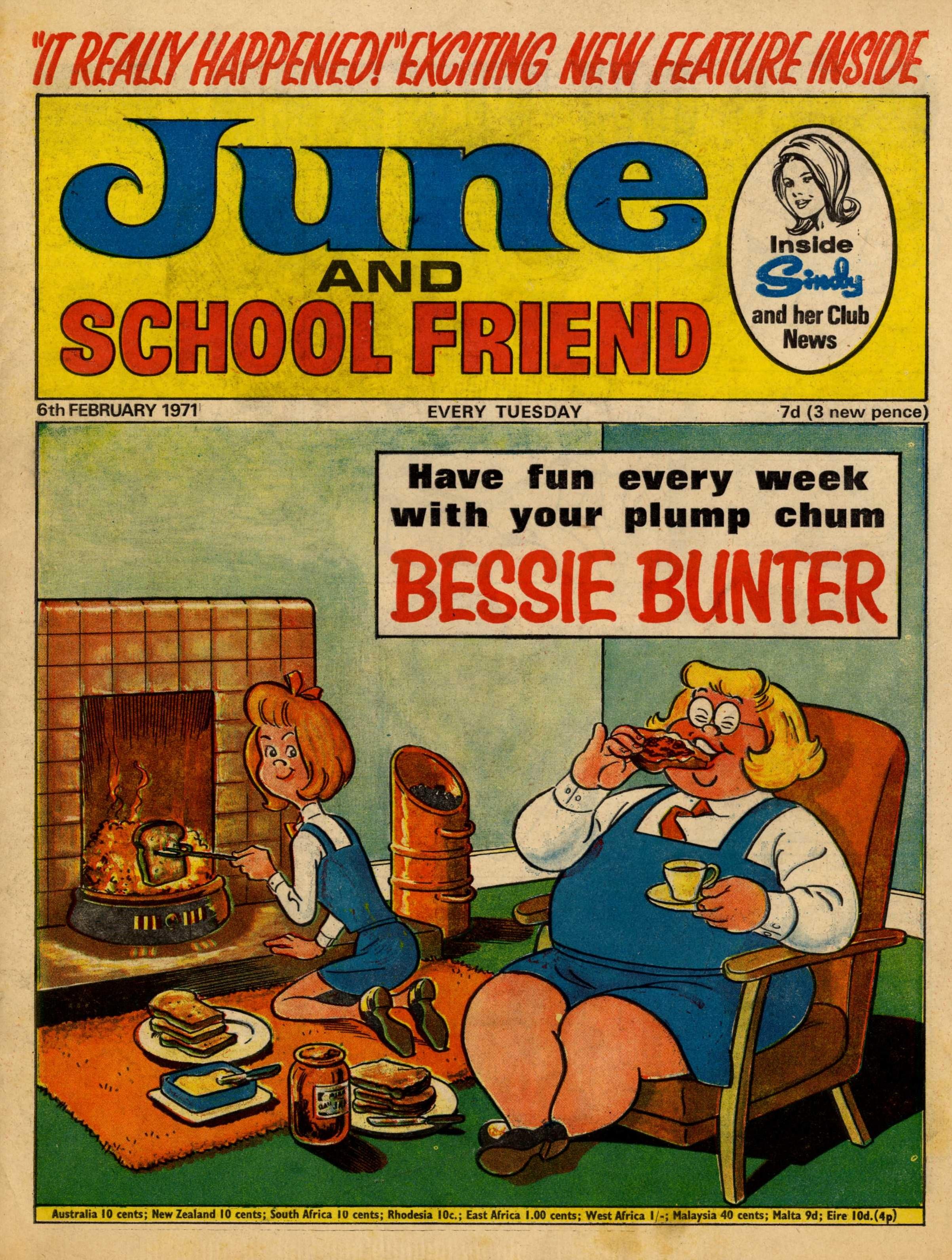 Bessie Bunter, drawn by Arthur Martin