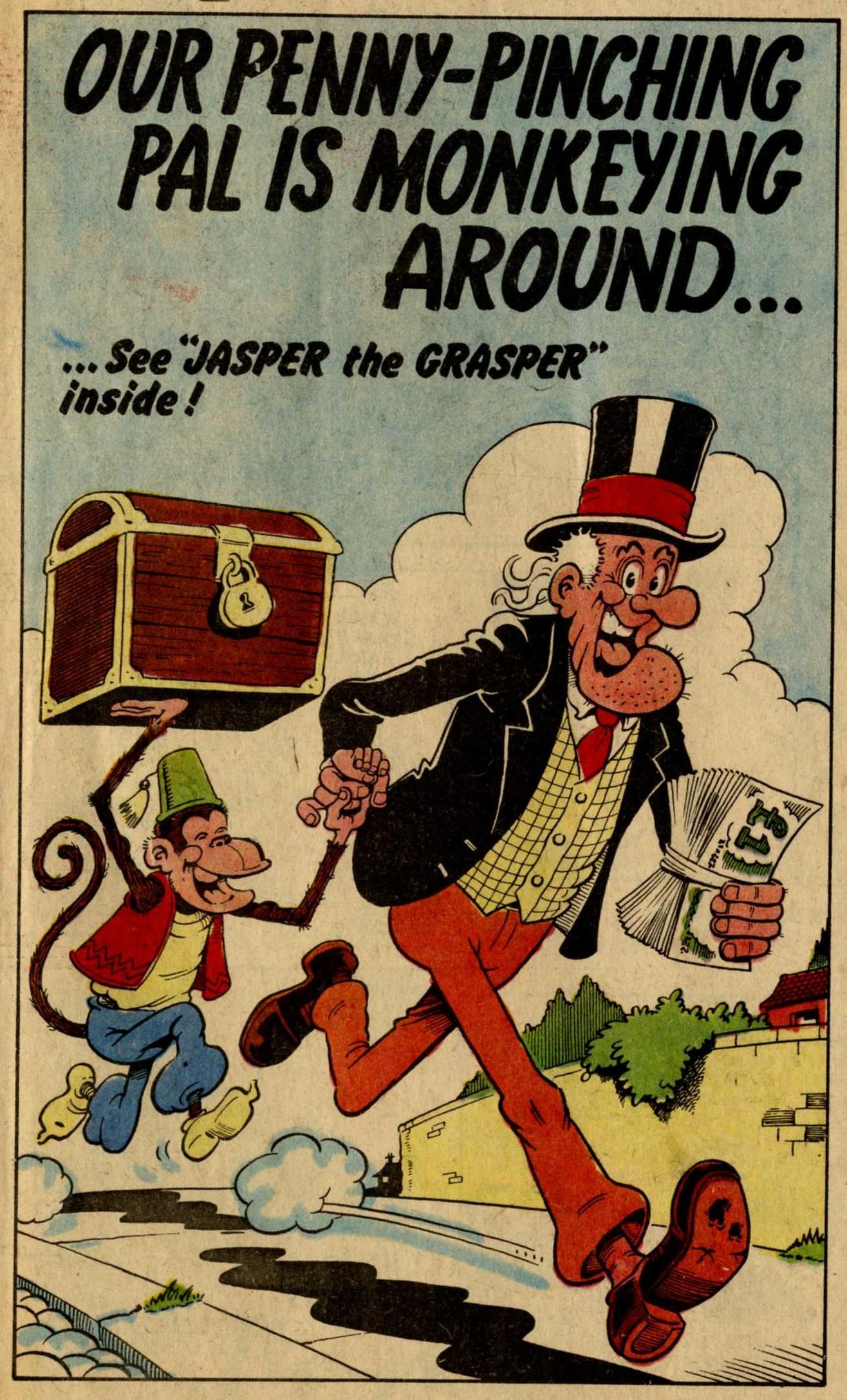 Jasper the Grasper, drawn by Trevor Metcalfe