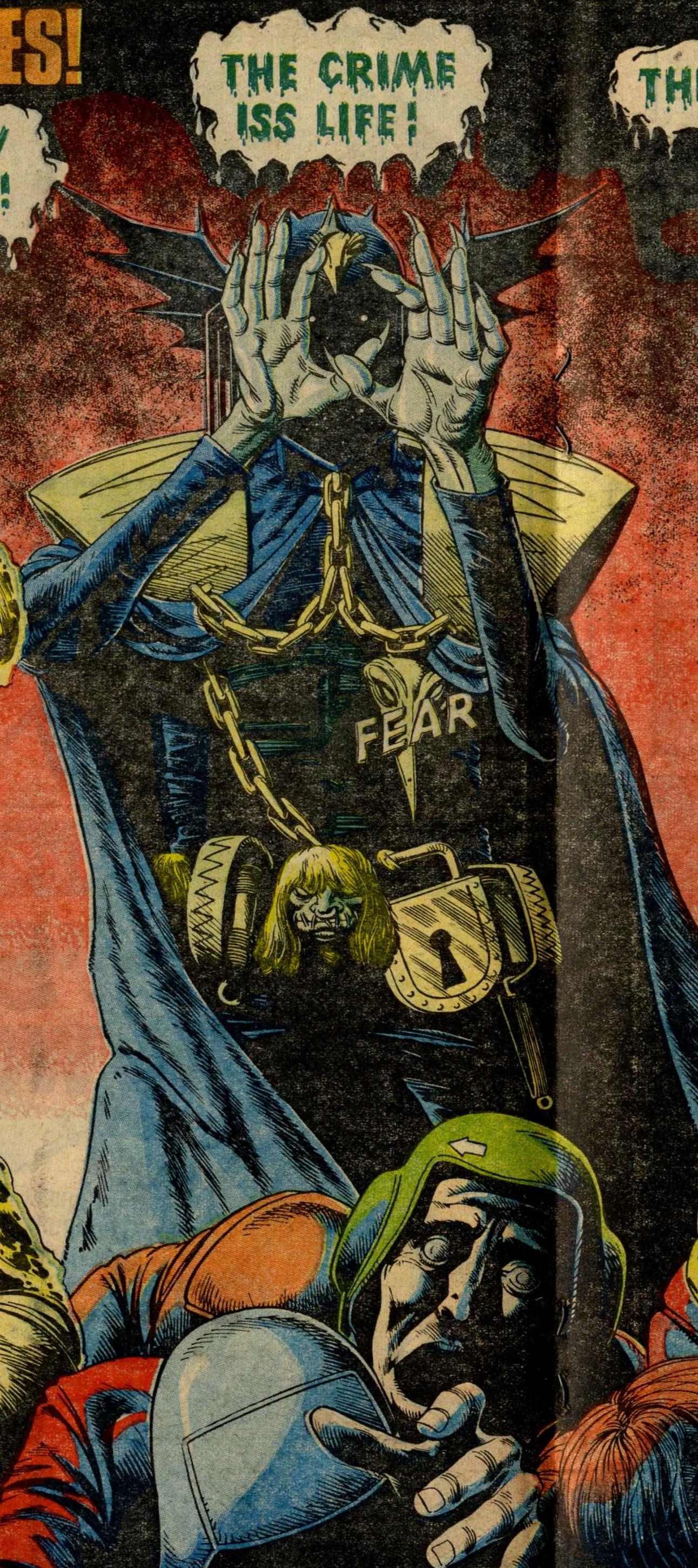 Judge Fear, drawn by Brian Bolland