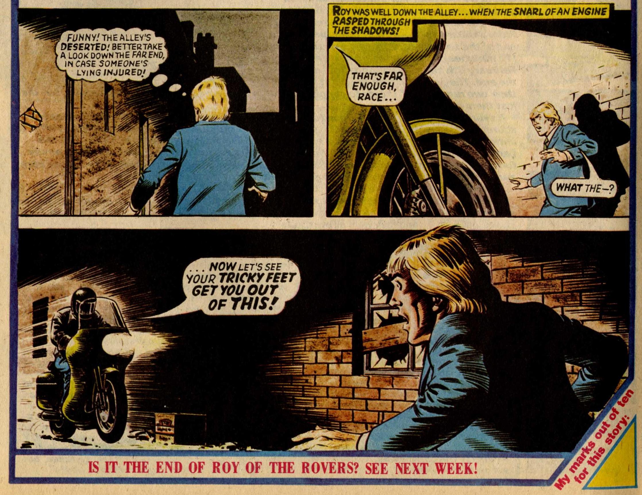 Elton Blake (on the bike), drawn by David Sque