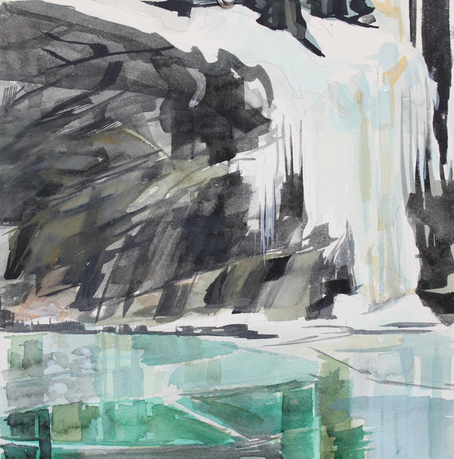 Eagle's Perch watercolor 12 x 12 in.