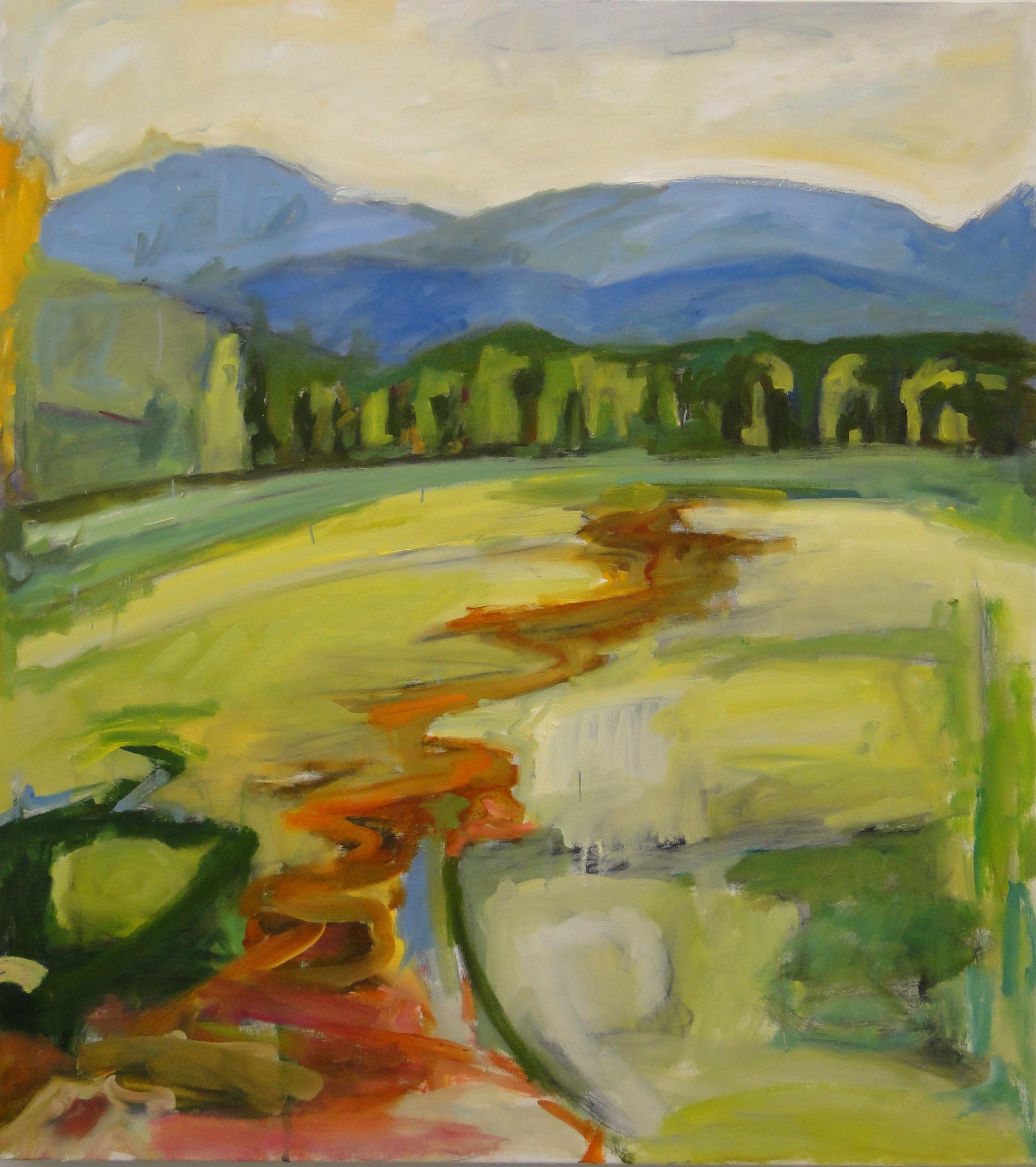 Running Through Vermont, 42 x 38, oil on canvas