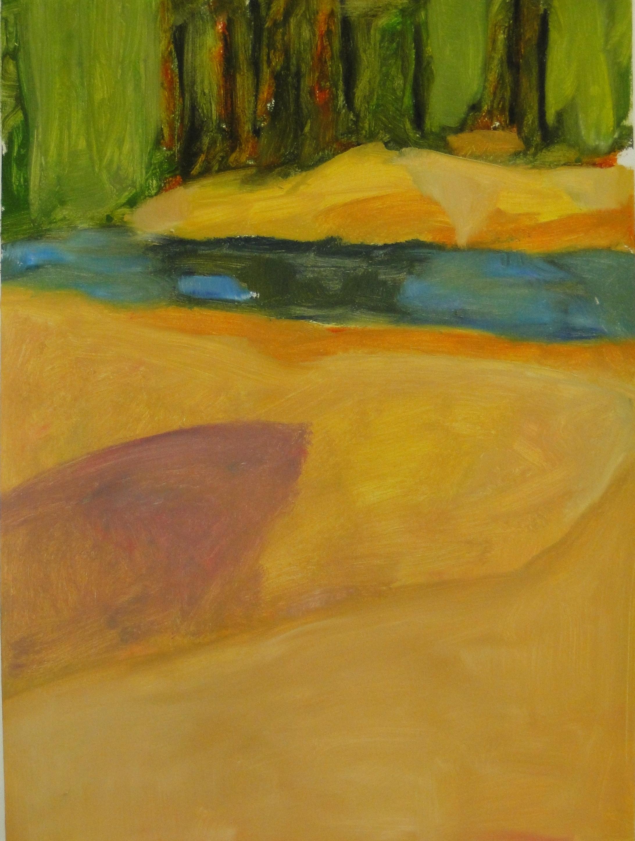Johnson, VT  Stream, 30 x 22, oil on paper