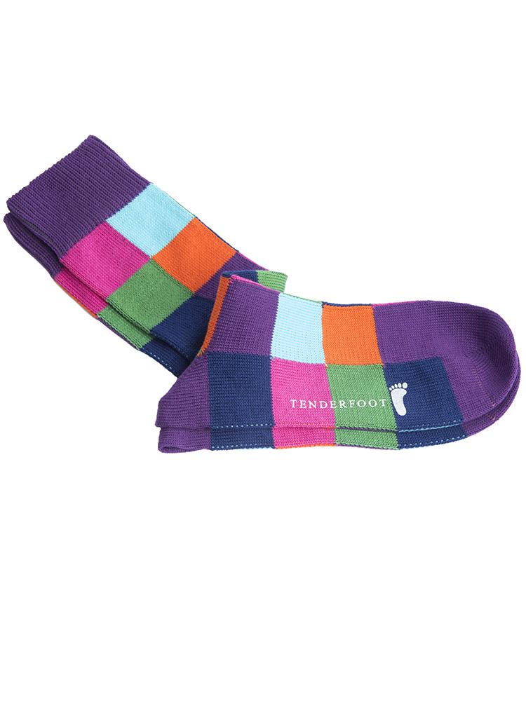 Multicoloured squares sock for web.jpg