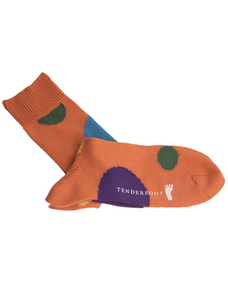 Orange socks with large colour circles for web.jpg