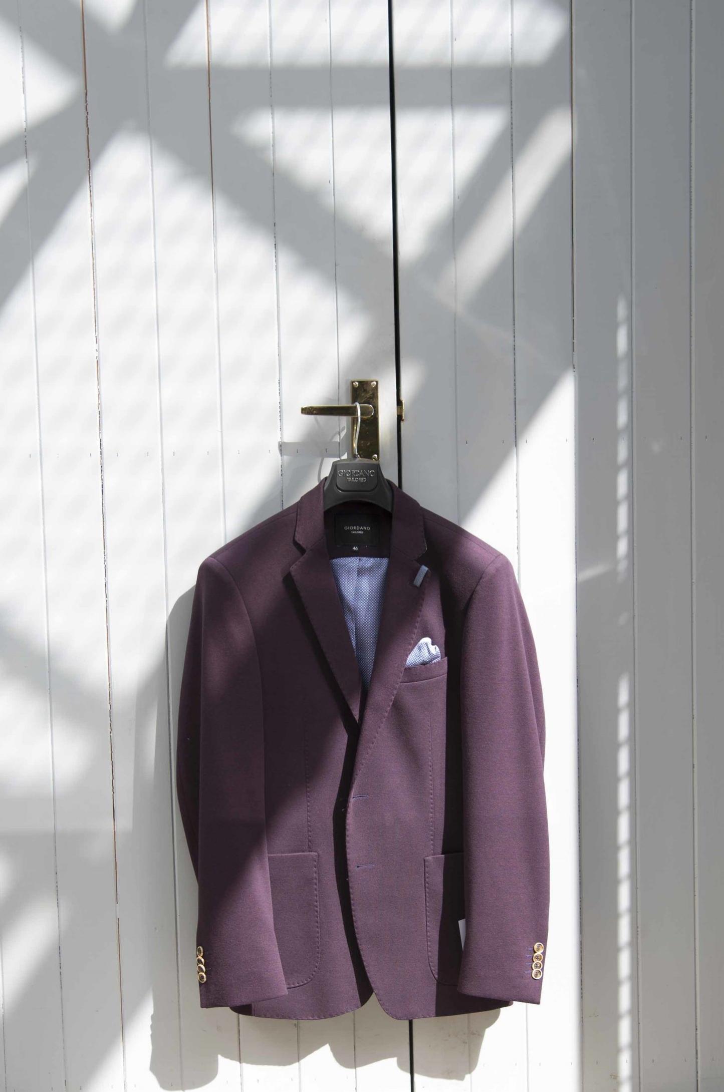 Plum coloured men's jacket