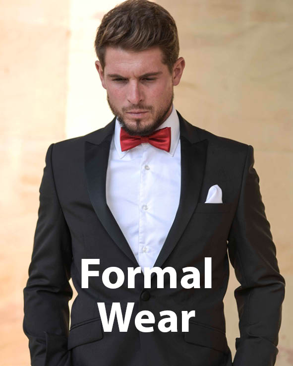 Man in dinner jacket with red bow tie