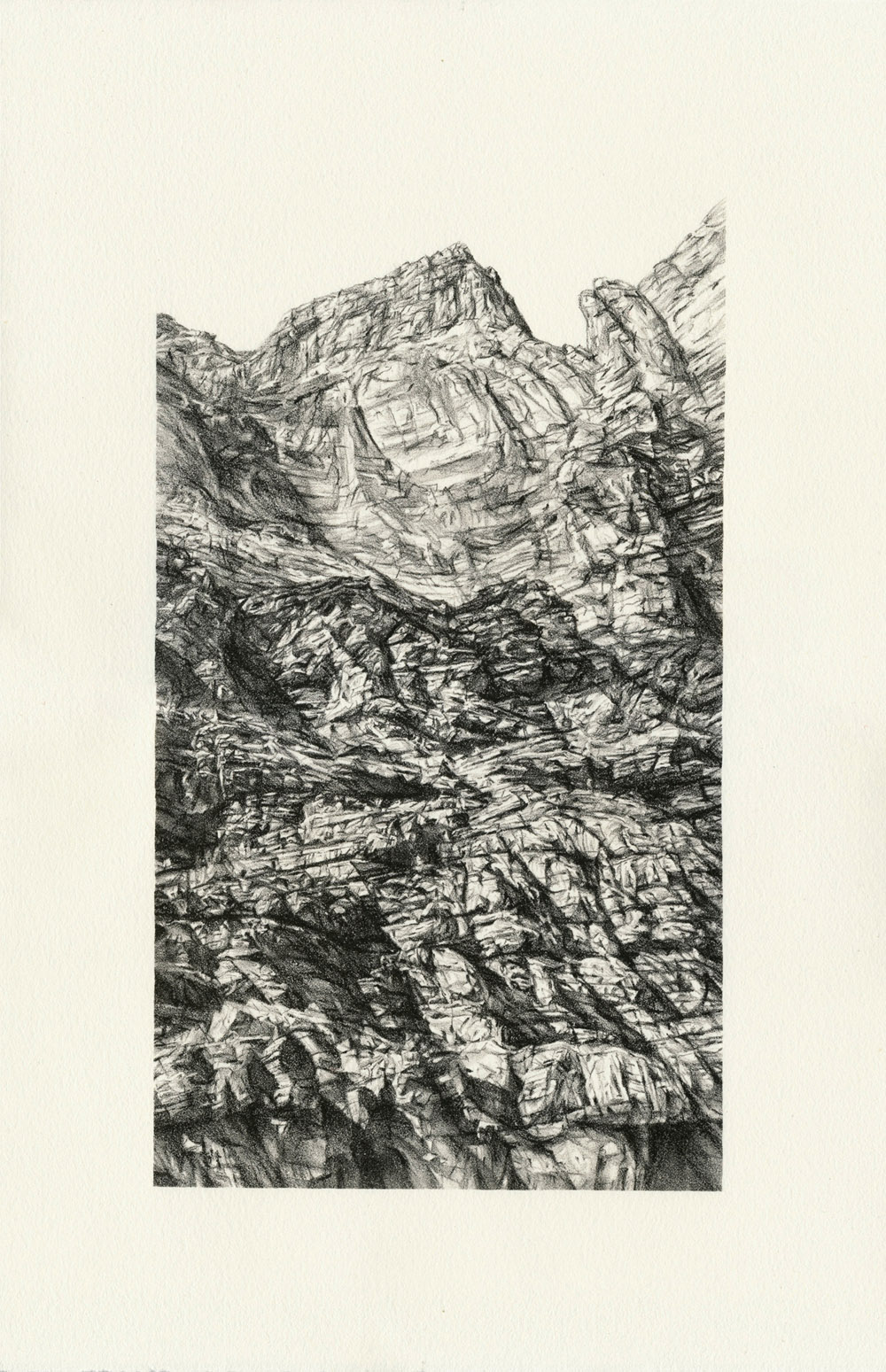 Inner Gorge, lithograph, edition of 47, 38 x 26 cm, 2013 (Print Council of Australia Commission)