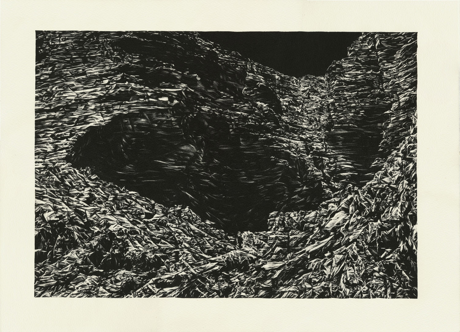 Moonlit Canyon, lithograph, 38 x 51 cm, edition of 14, 2013.