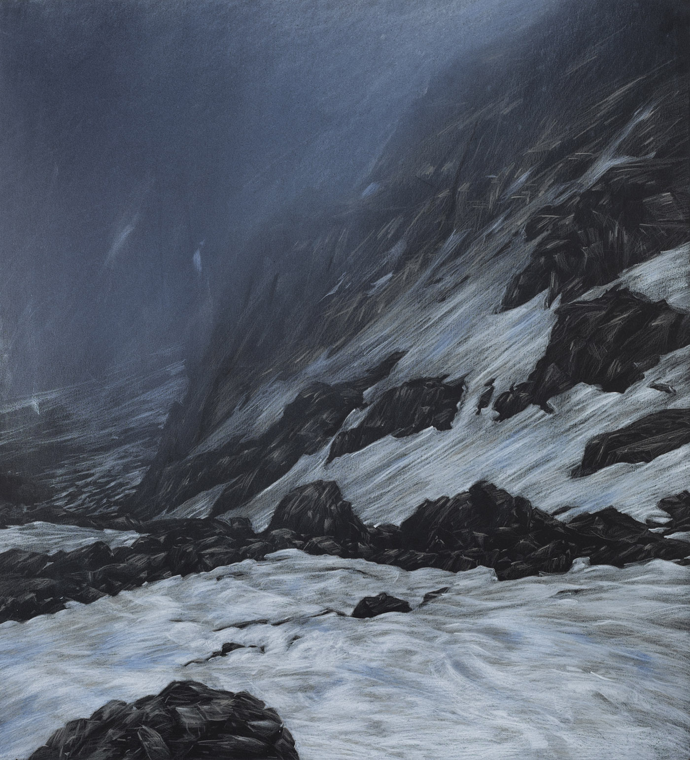 Summit, coloured pencil and pastel, 62 x 57 cm, 2012 (photo by Dean Butters)