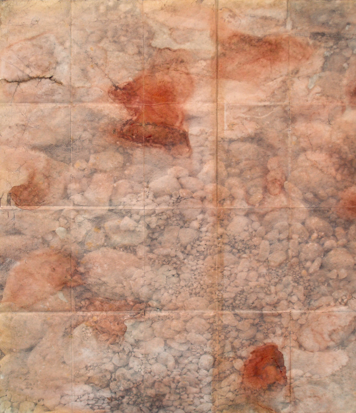 Trail Map I, ink, shellac and pencil, 64 x 55 cm, 2012