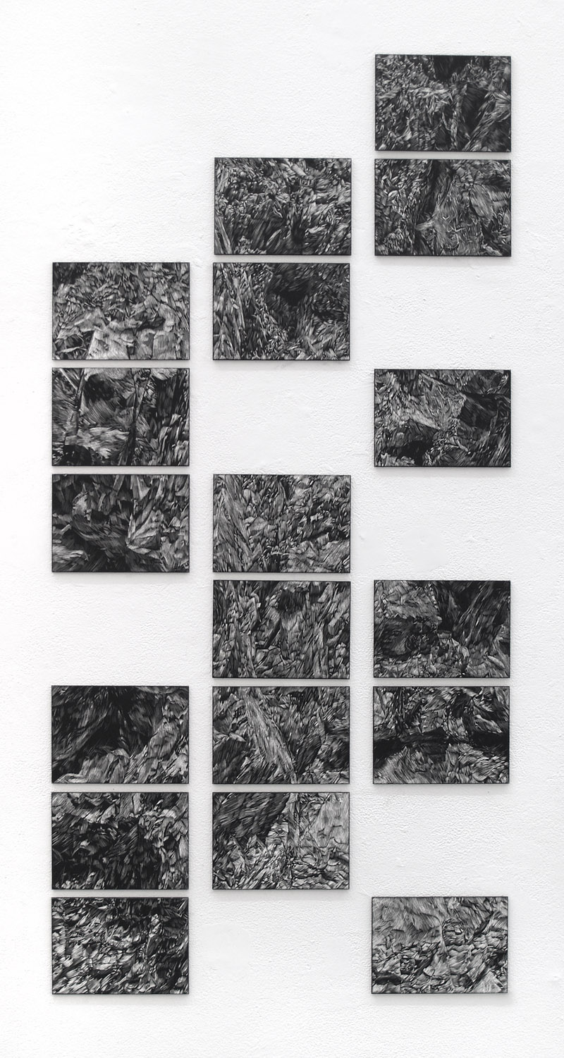 Canyon Variation, scratchboard, dimensions variable, 2012