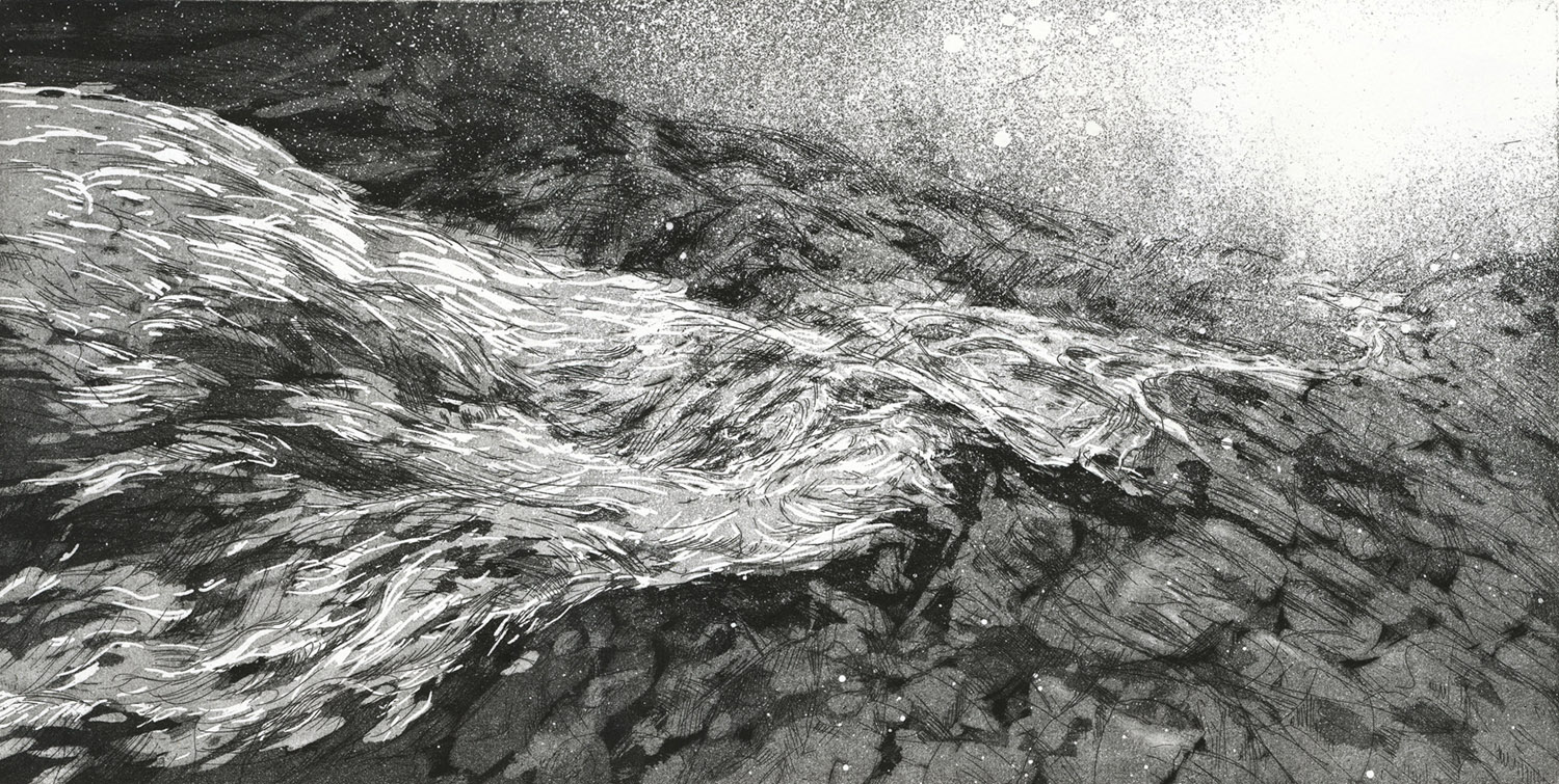 River, etching, 38 x 56 cm, edition of 10, 2012