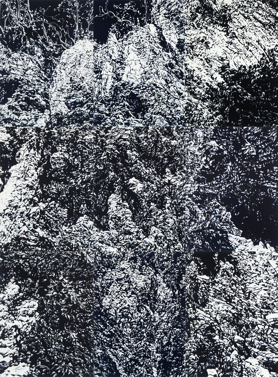 Chasm 2, 2017, monotype on paper, 228cm x 168cm