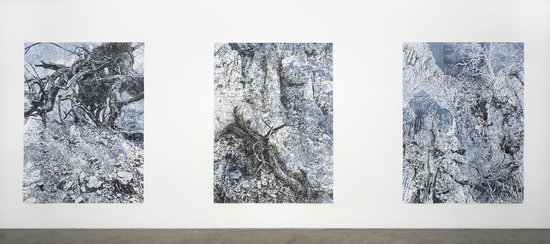 'Ghost' series in 'Precipice' solo exhibition, ANCA Gallery, Canberra