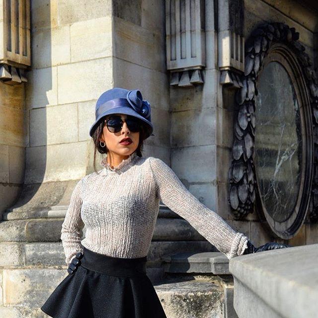 #REPOST: @preppylepew - Wearing a bespoke peplum skirt.
