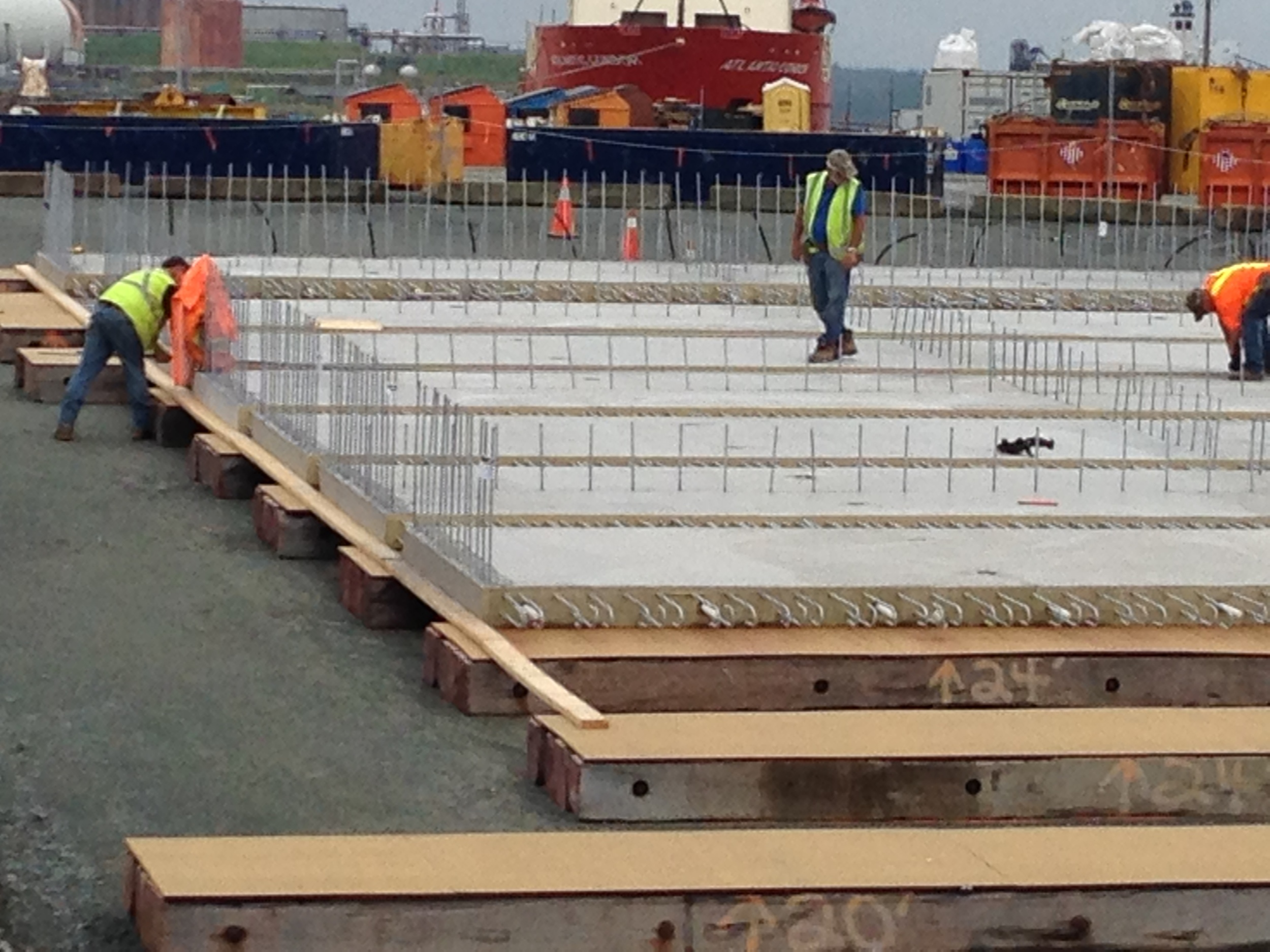 Pontoon Floor Under Construction
